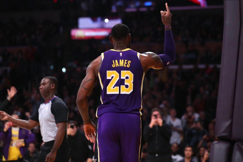 LeBron James, Los Angeles Lakers vs Denver Nuggets at Staples Center