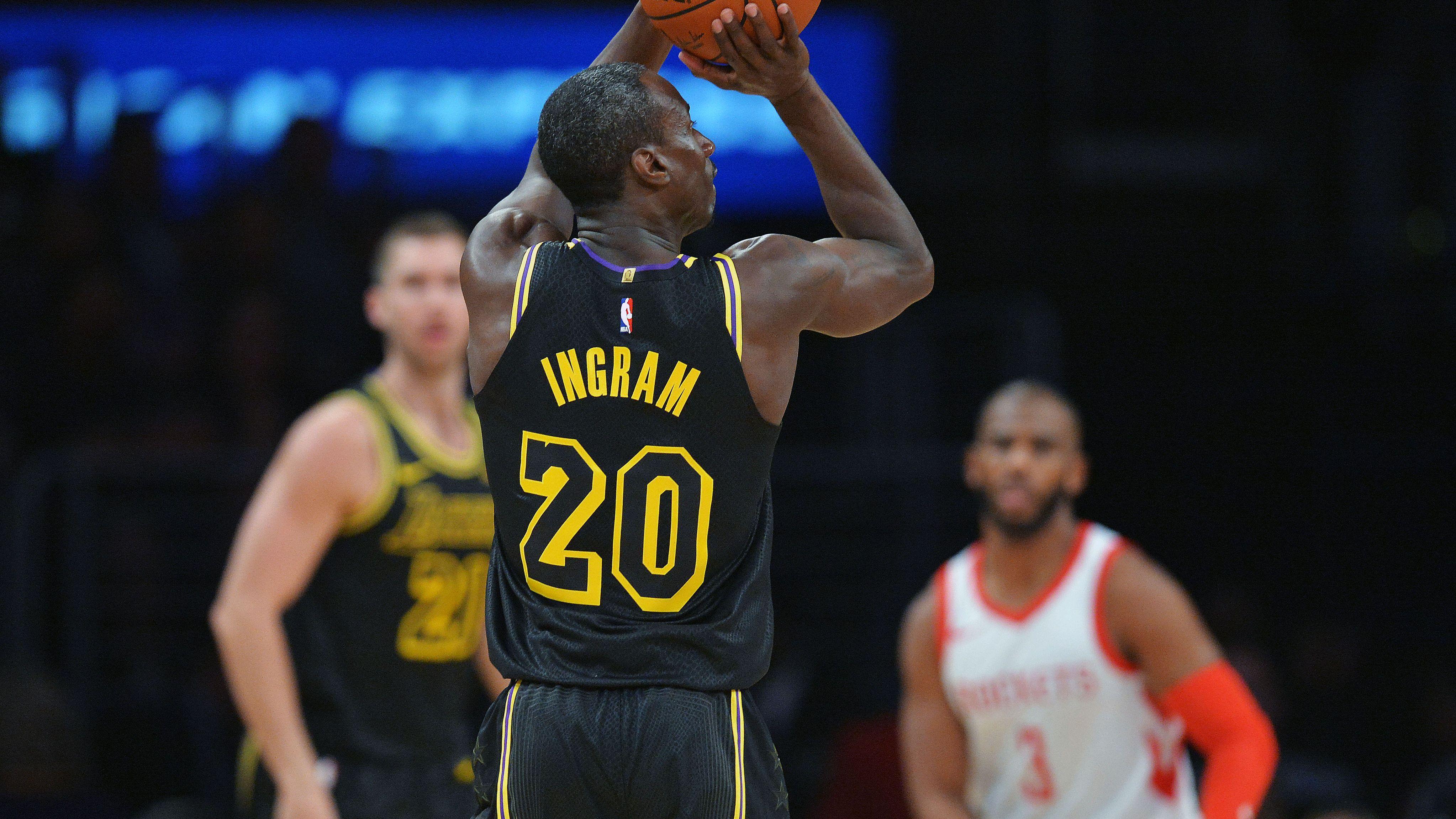 Andre Ingram, Los Angeles Lakers vs Houston Rockets at Staples Center