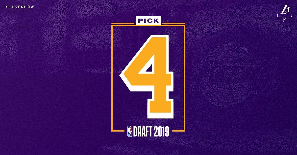 Los Angeles Lakers, NBA Draft Lottery 2019