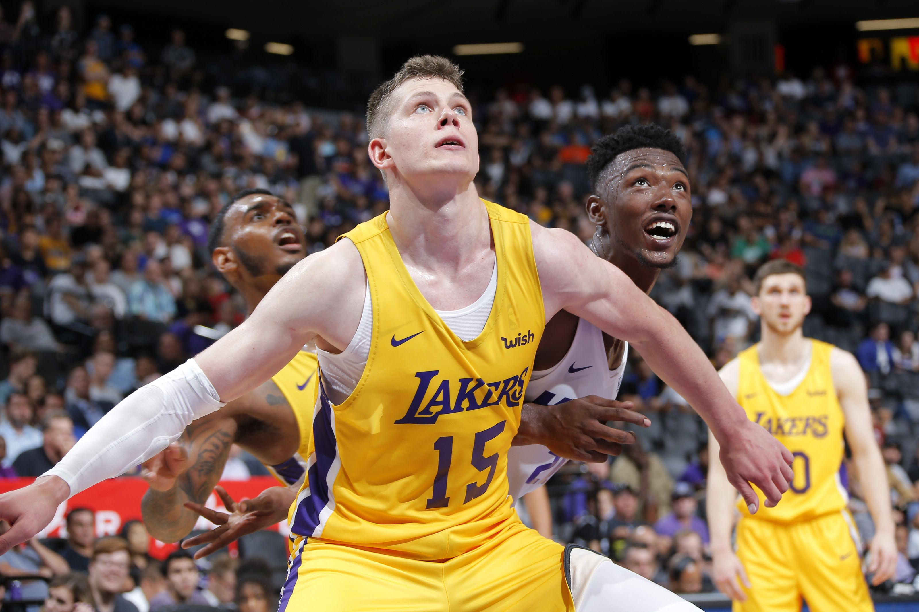 Moritz Wagner, Los Angeles Lakers vs Miami Heat at the Golden 1 Center