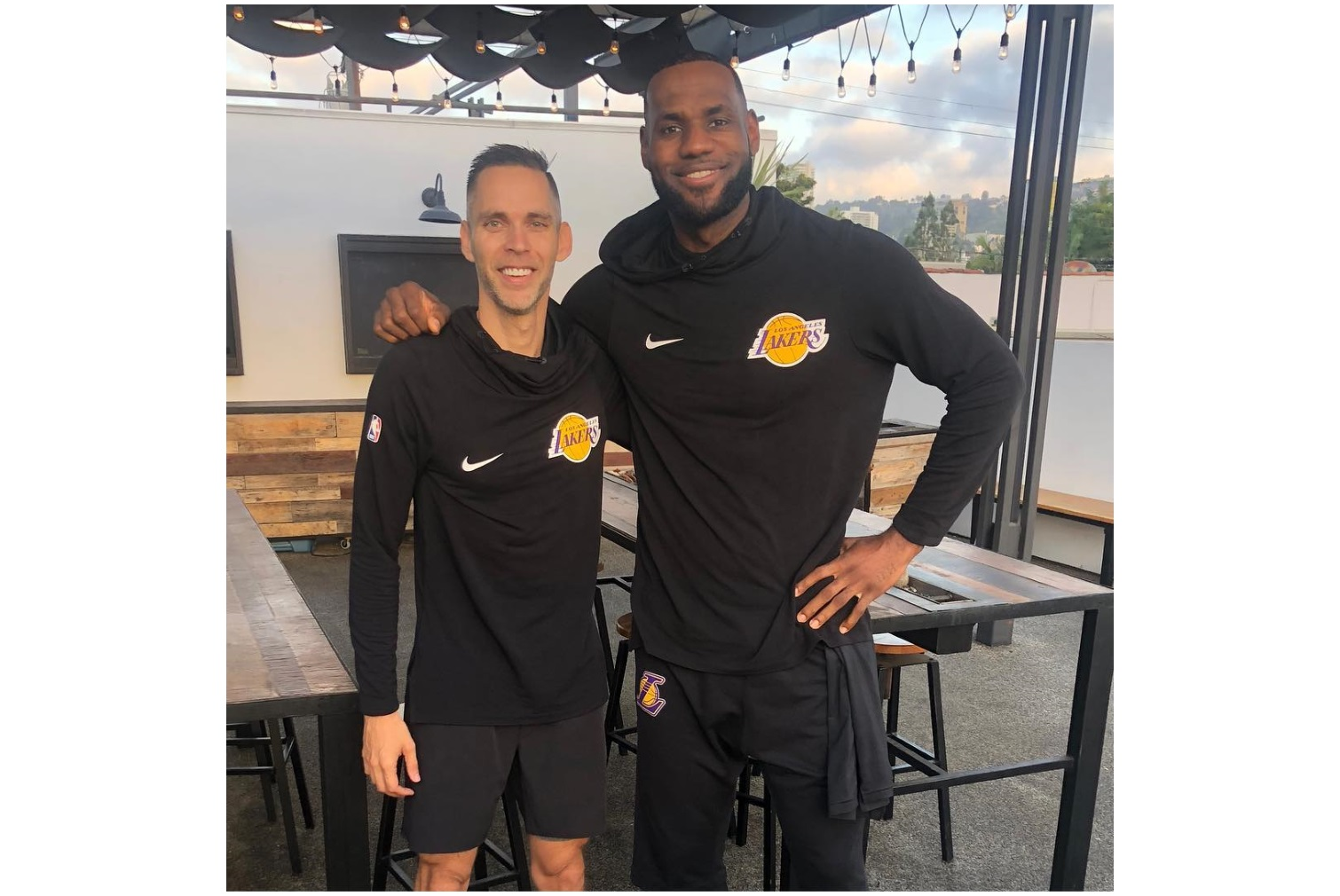 Ryan West and LeBron James