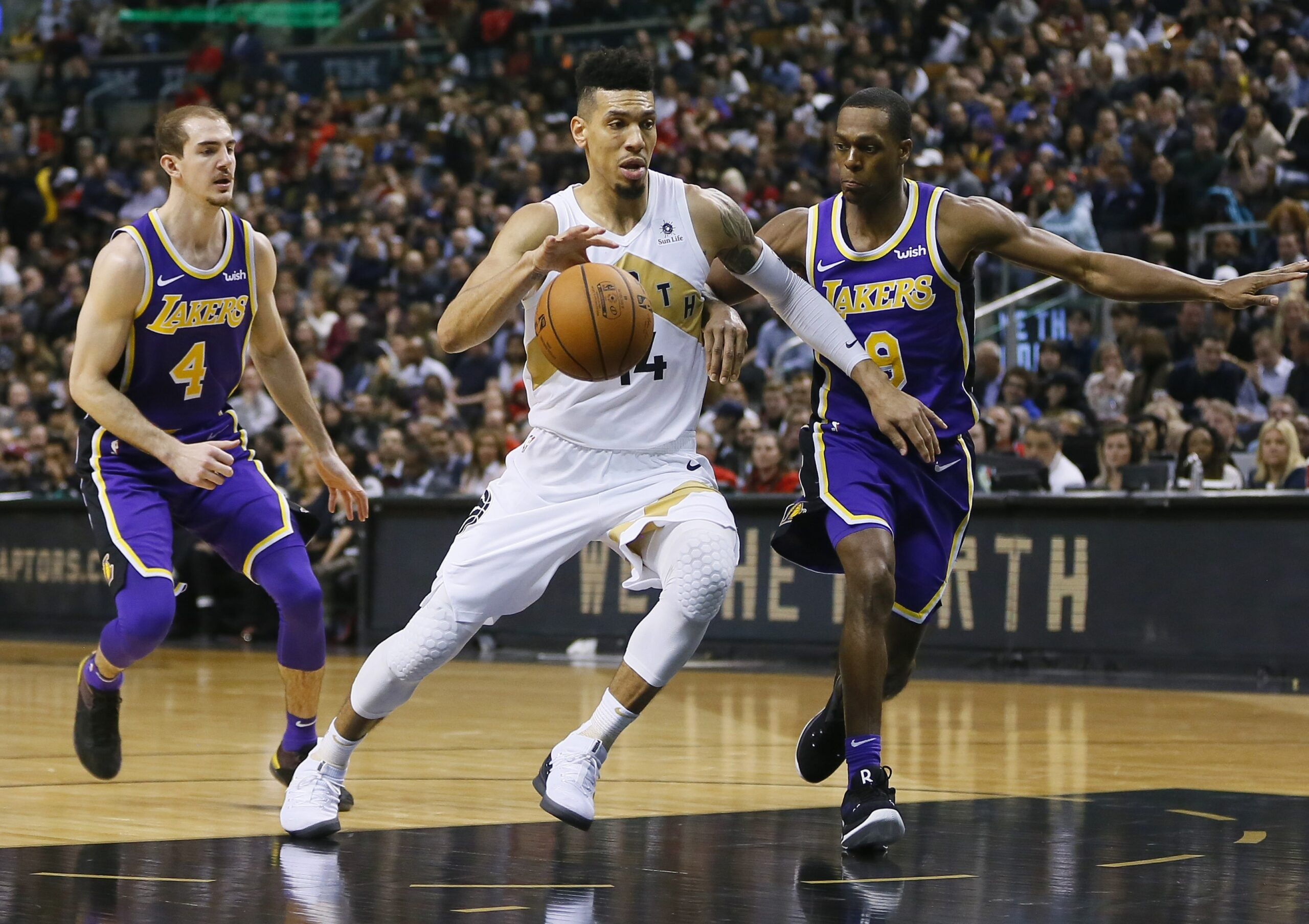 Danny Green, Toronto Raptors vs Los Angeles Lakers at Scotiabank Arena