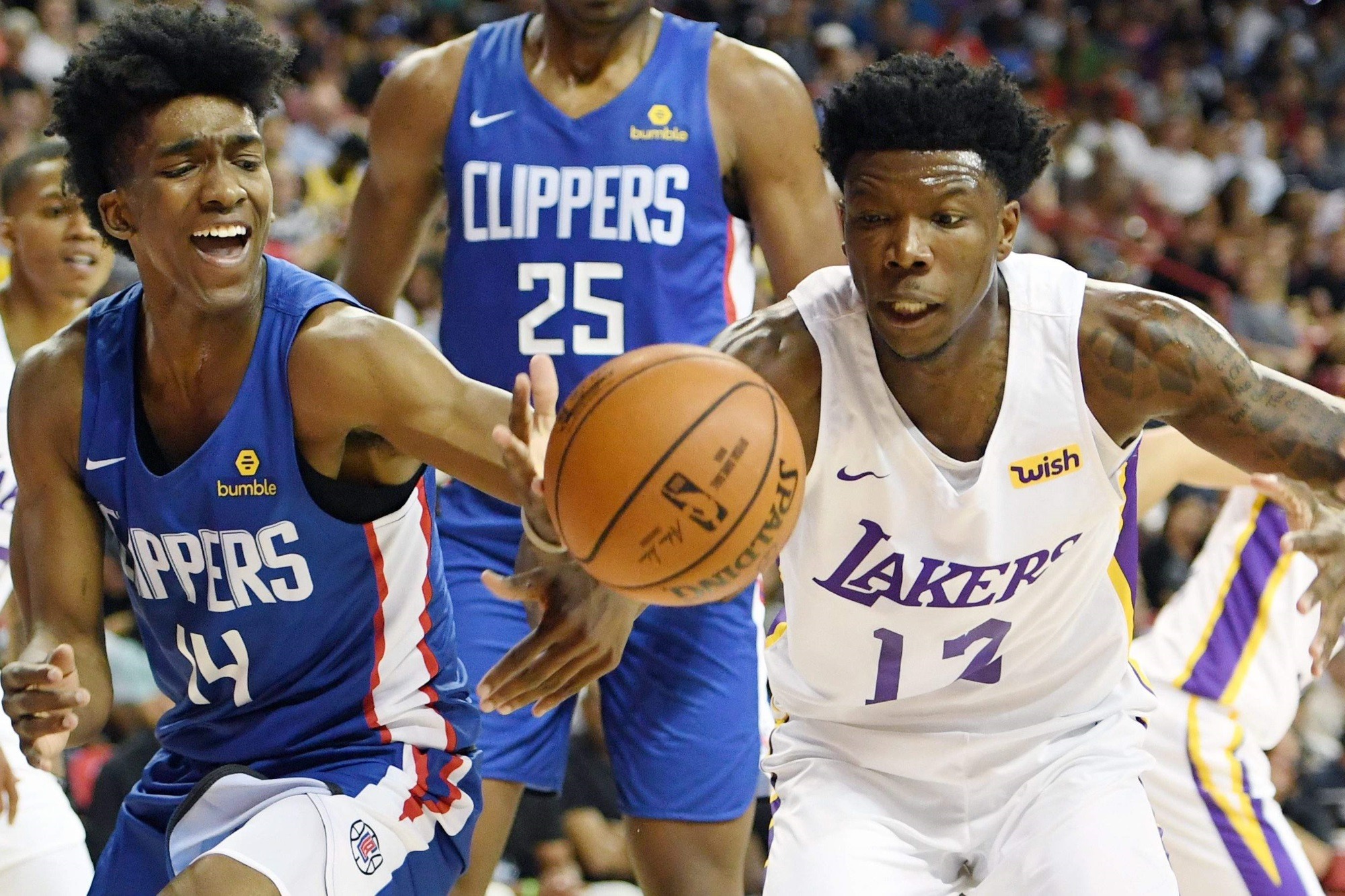 Terance Mann and Devontae Cacok, LA Clippers vs Los Angeles Lakers