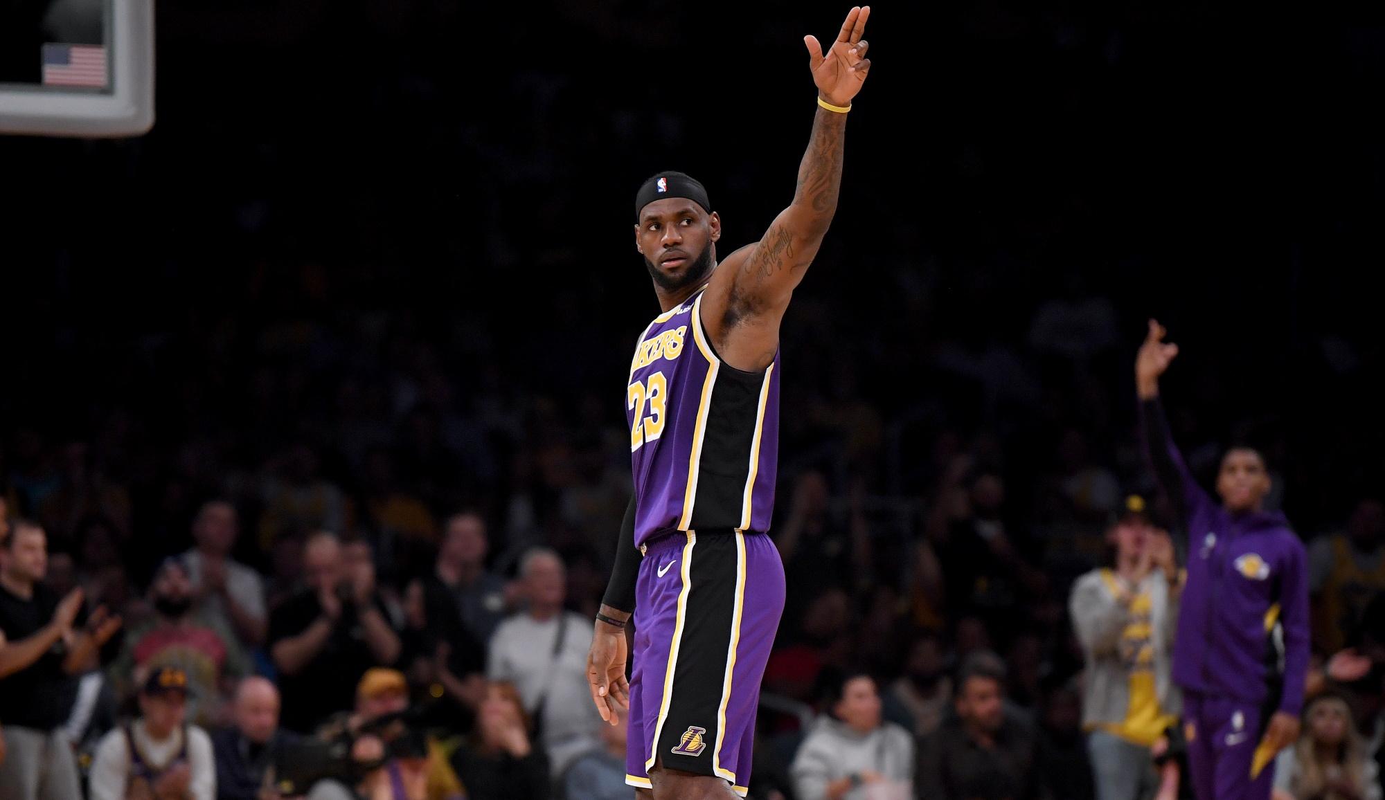 LeBron James, Los Angeles Lakers vs Utah Jazz