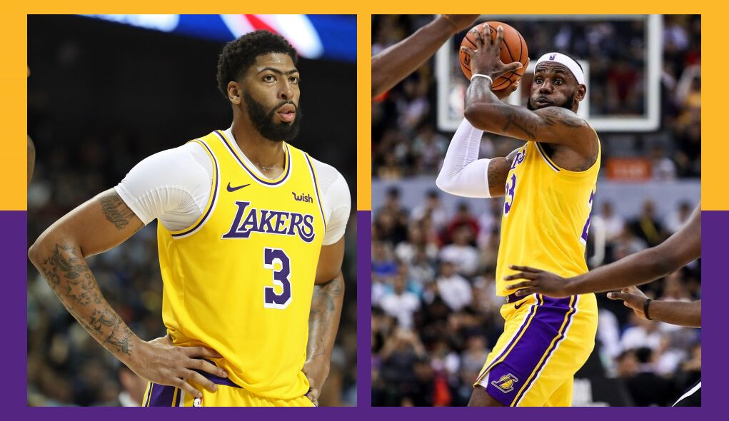 Anthony Davis and LeBron James, Los Angeles Lakers vs Brooklyn Nets