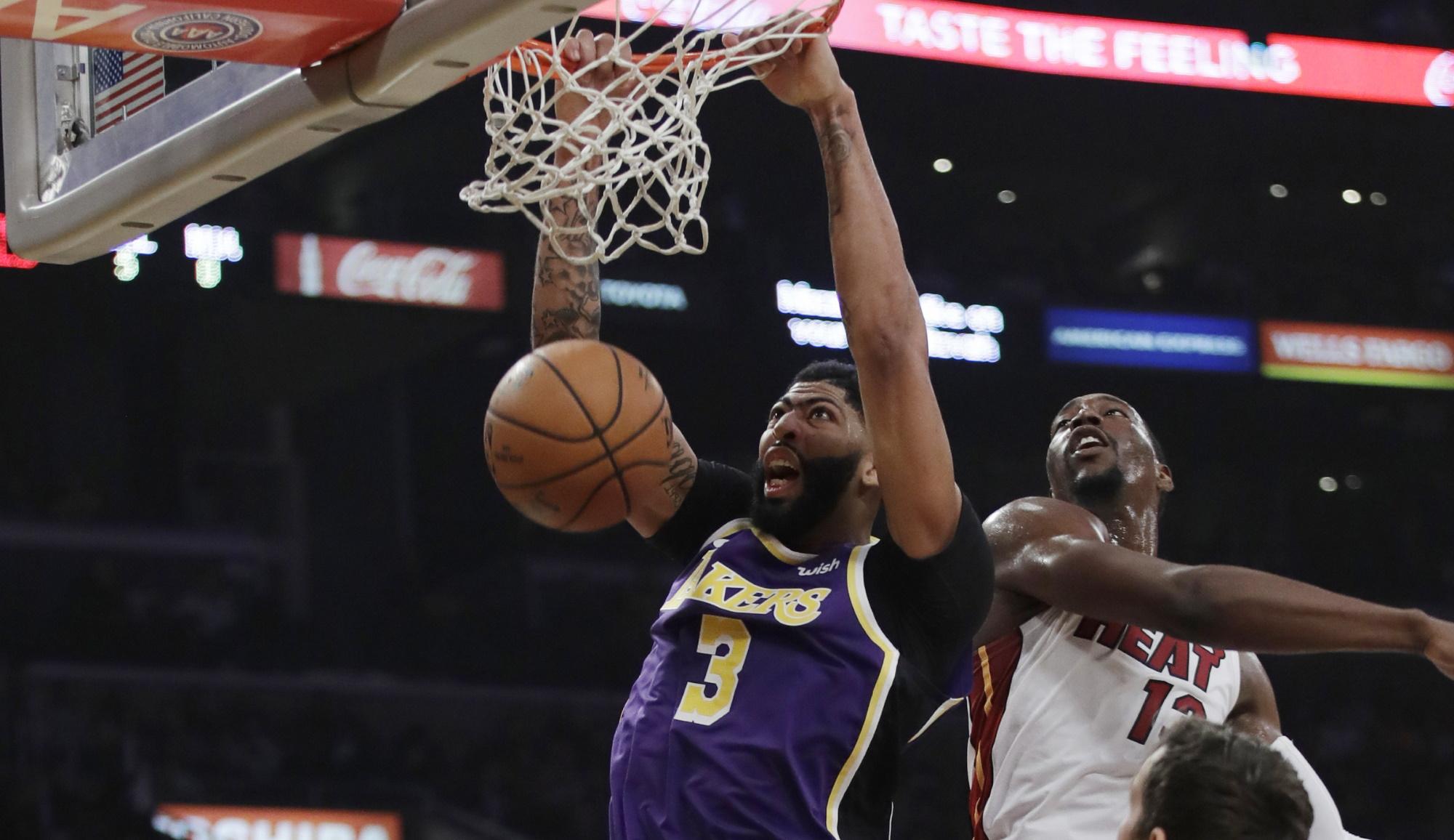 Anthony Davis, Los Angeles Lakers vs Miami Heat