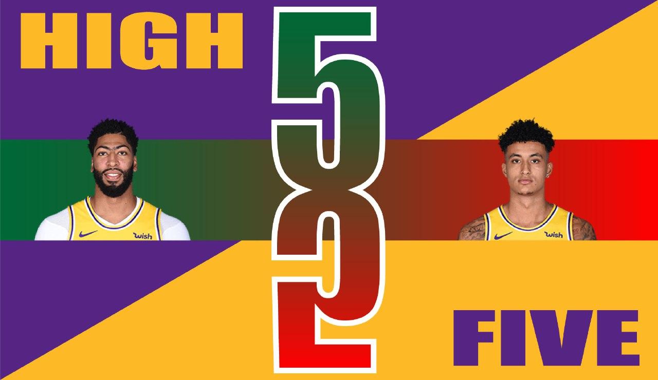 High Five, Anthony Davis and Kyle Kuzma
