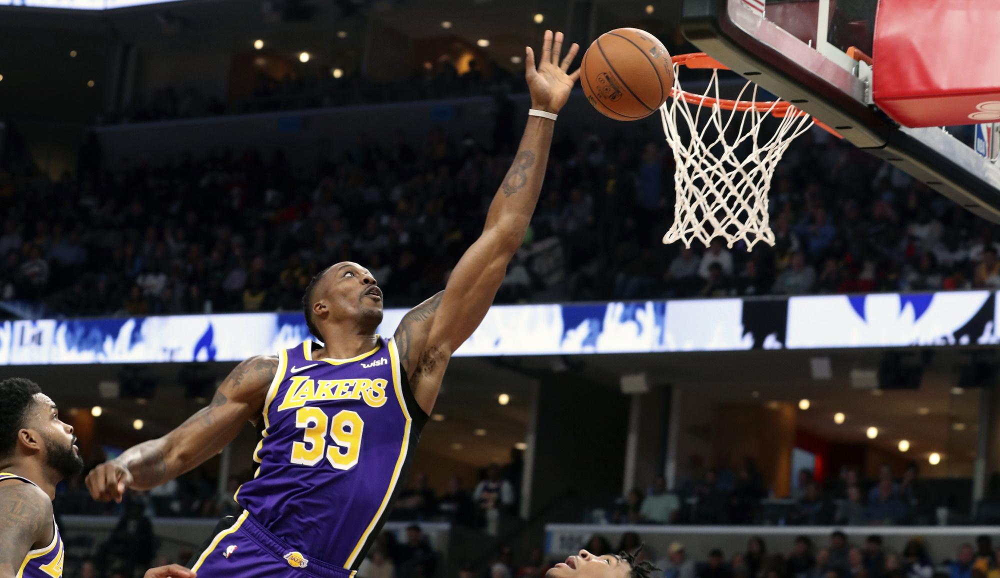 Dwight Howard, Los Angeles Lakers Memphis Grizzlies
