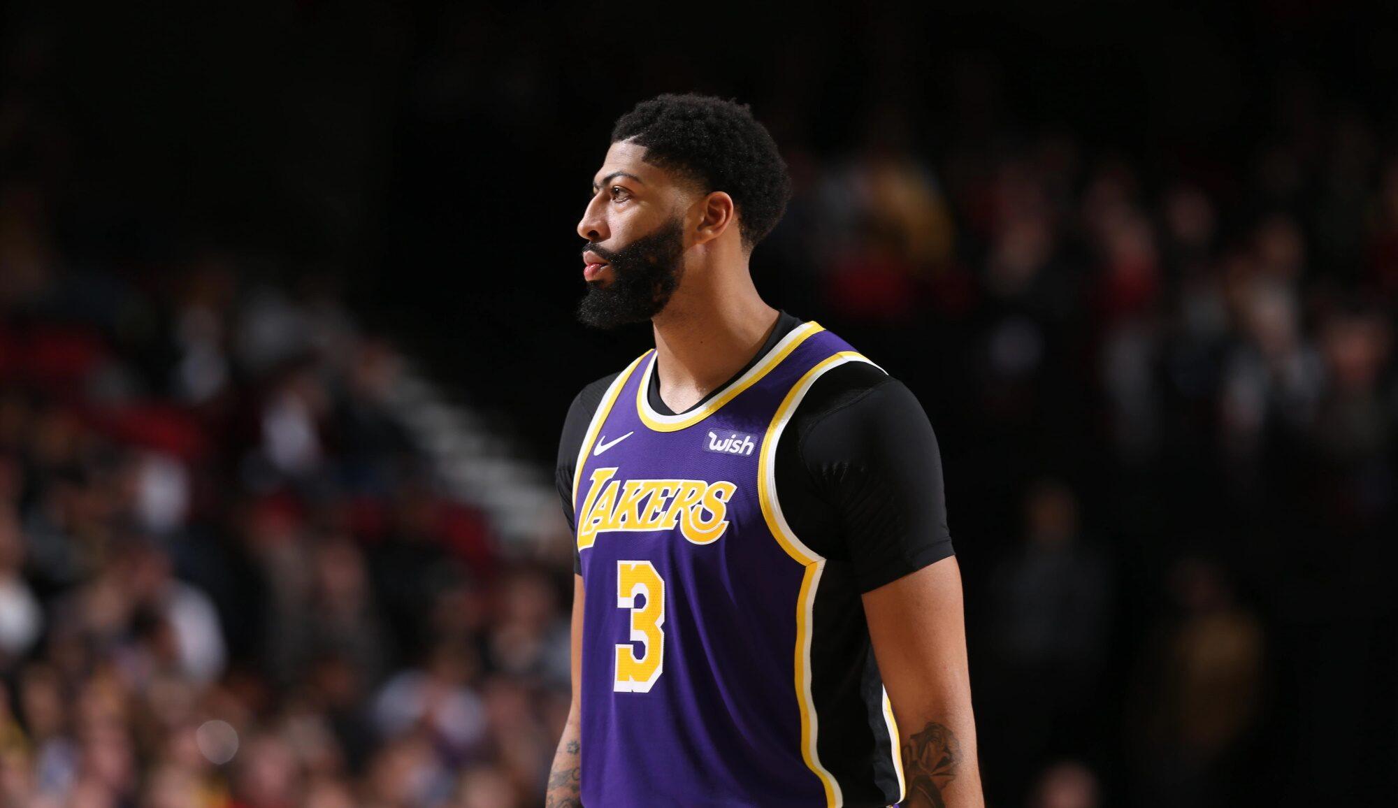 Anthony Davis, Los Angeles Lakers vs Portland Trail Blazers