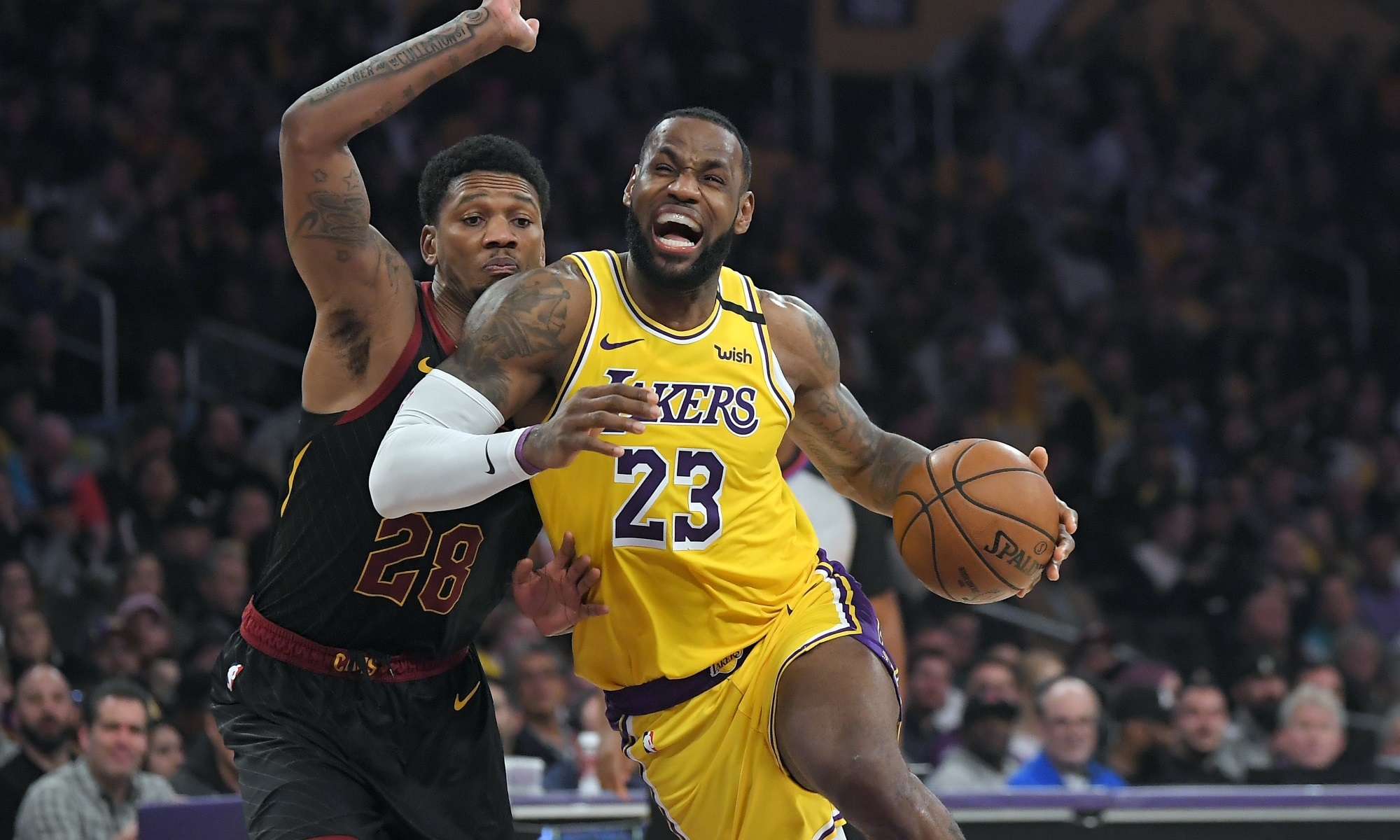 LeBron James, Los Angeles Lakers vs Cleveland Cavaliers