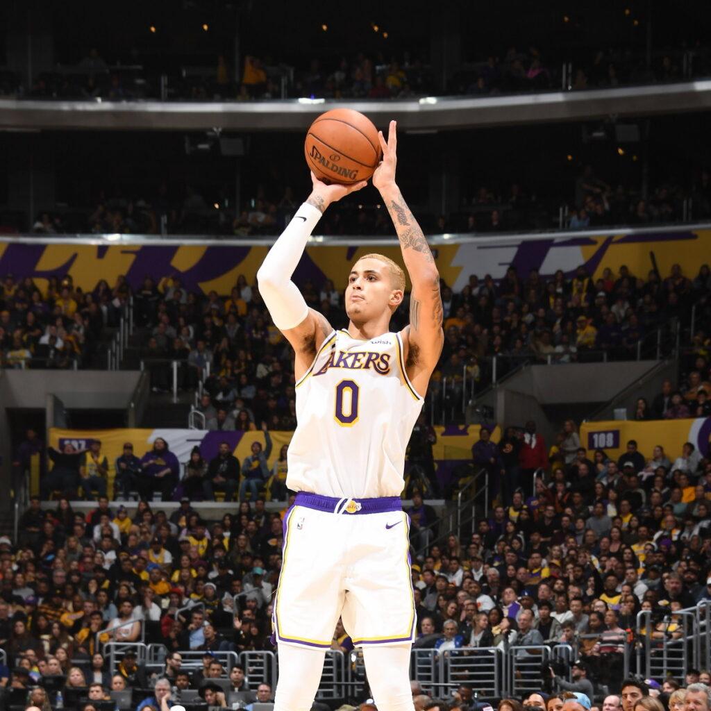 Kyle Kuzma, Los Angeles Lakers vs Phoenix Suns at STAPLES Center (Andrew D. Bernstein, NBAE via Getty Images)