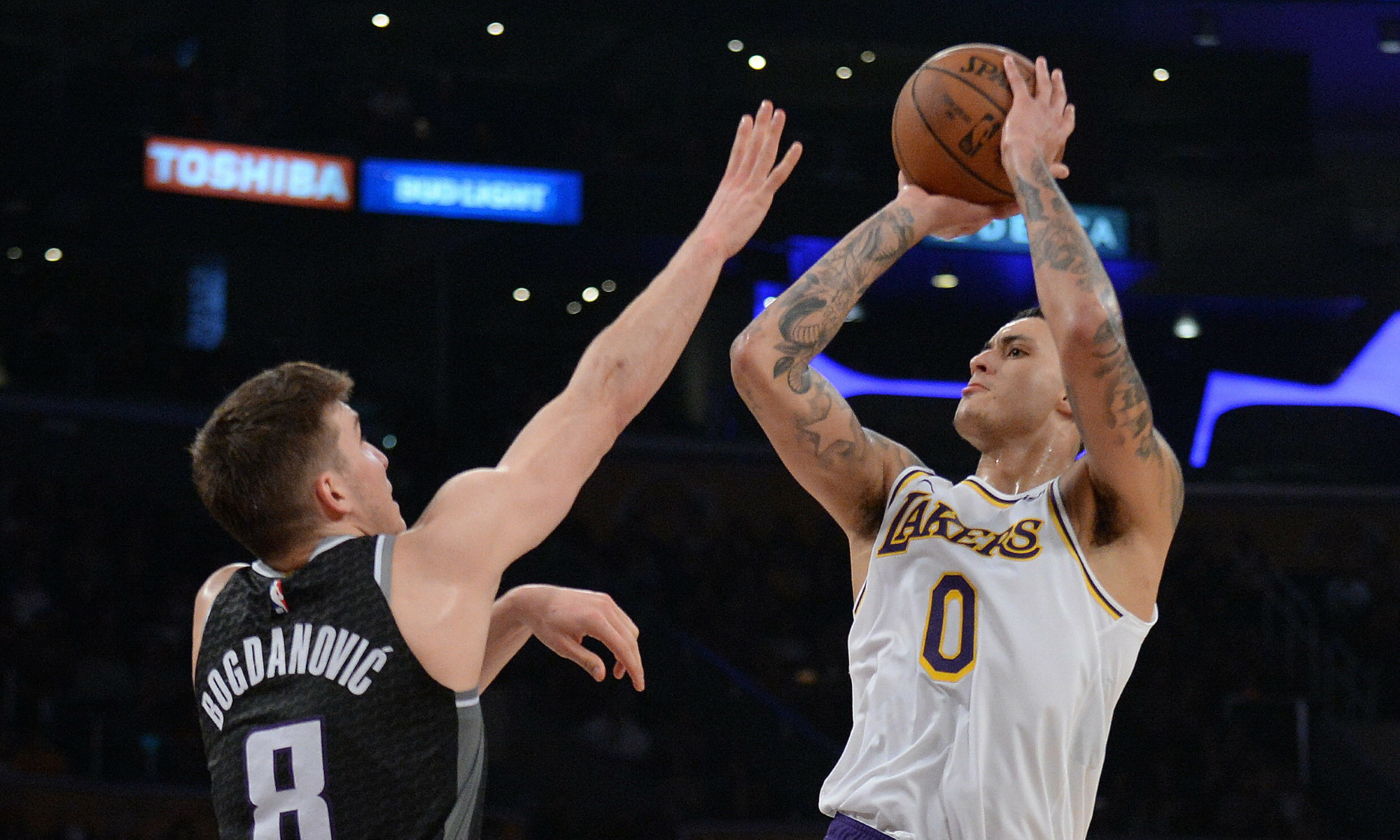 Kyle Kuzma and Bogdan Bogdanovic