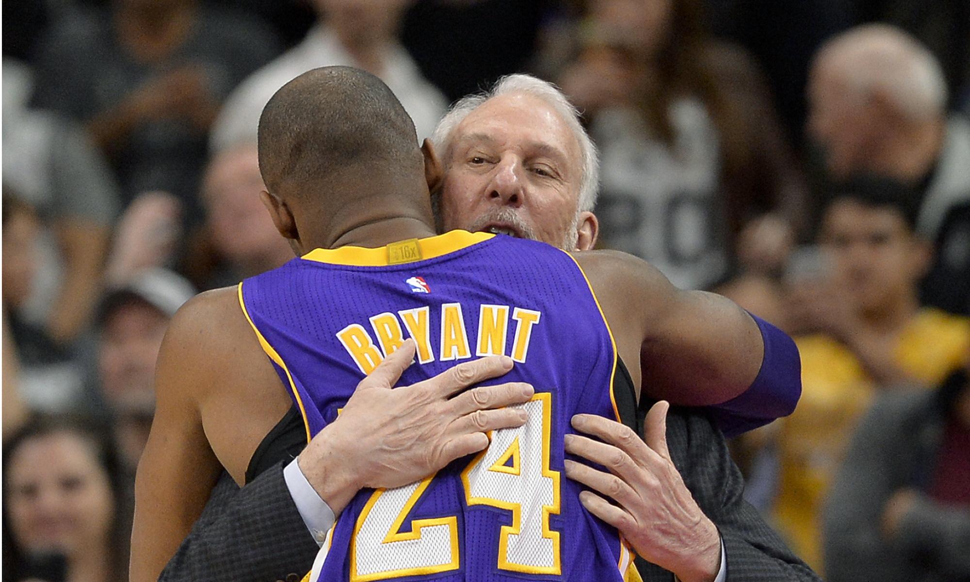 Kobe Bryant and Gregg Popovich