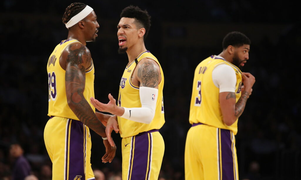 Danny Green, Los Angeles Lakers vs New Orleans Pelicans at STAPLES Center