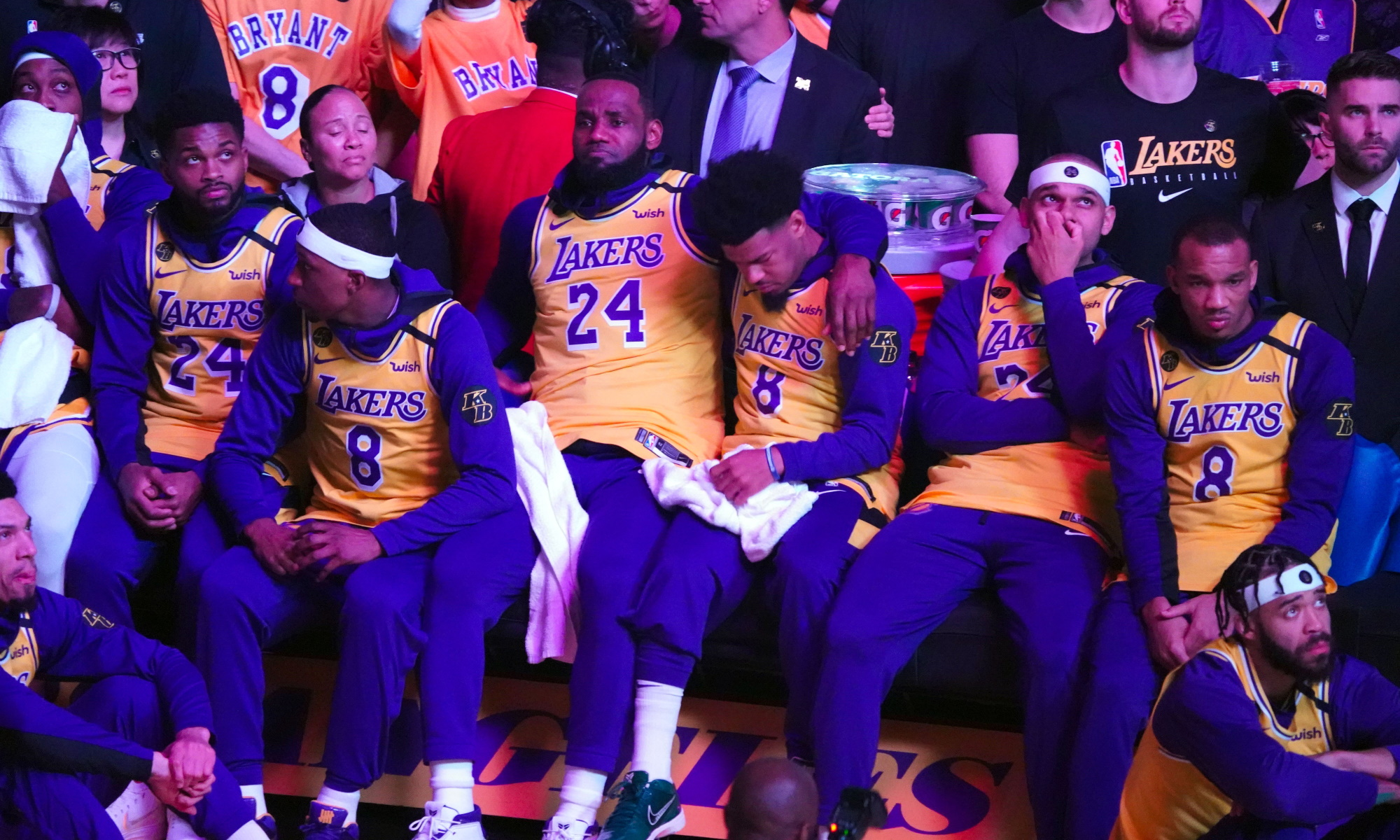 LeBron James and his Lakers teammates