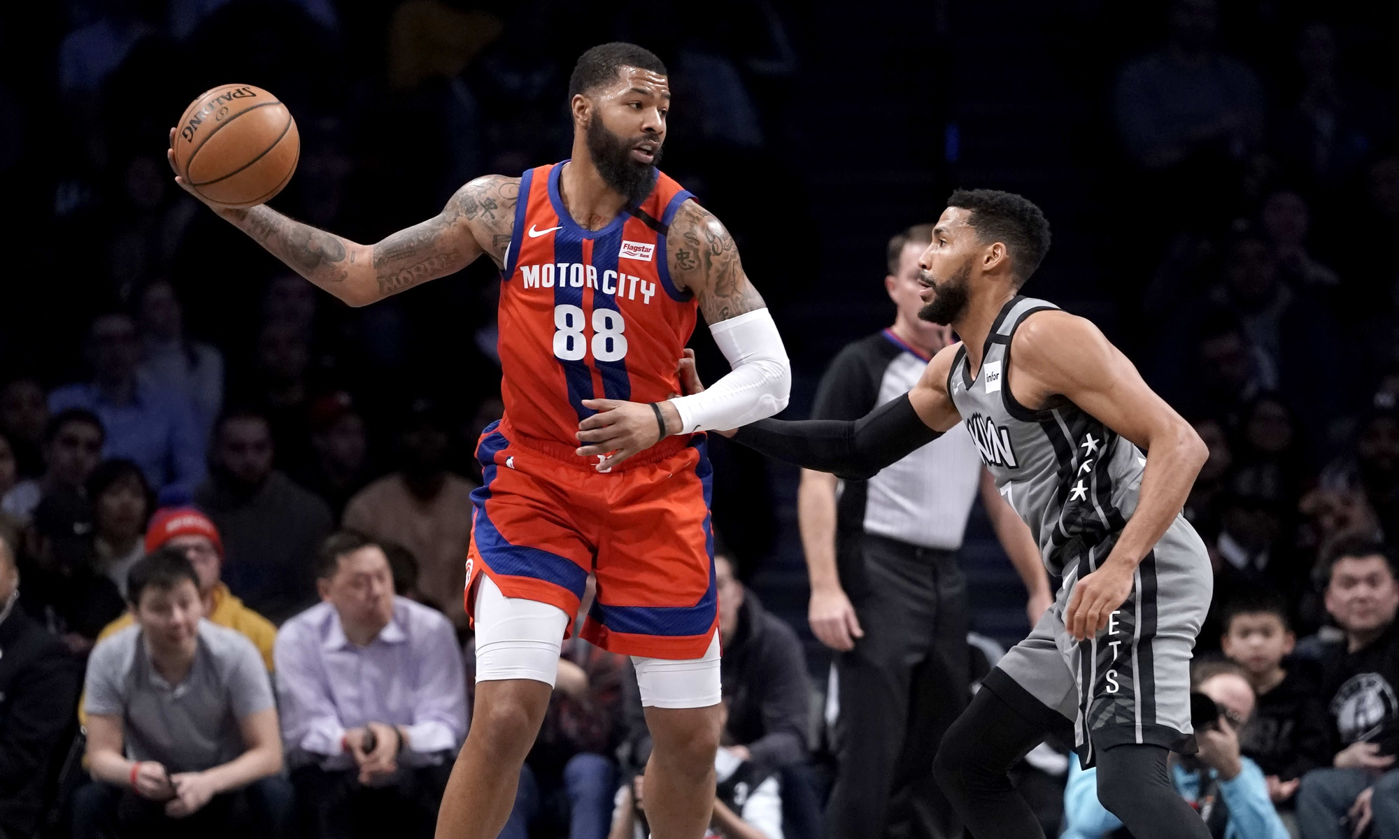 Markieff Morris, Detroit Pistons vs Brooklyn Nets