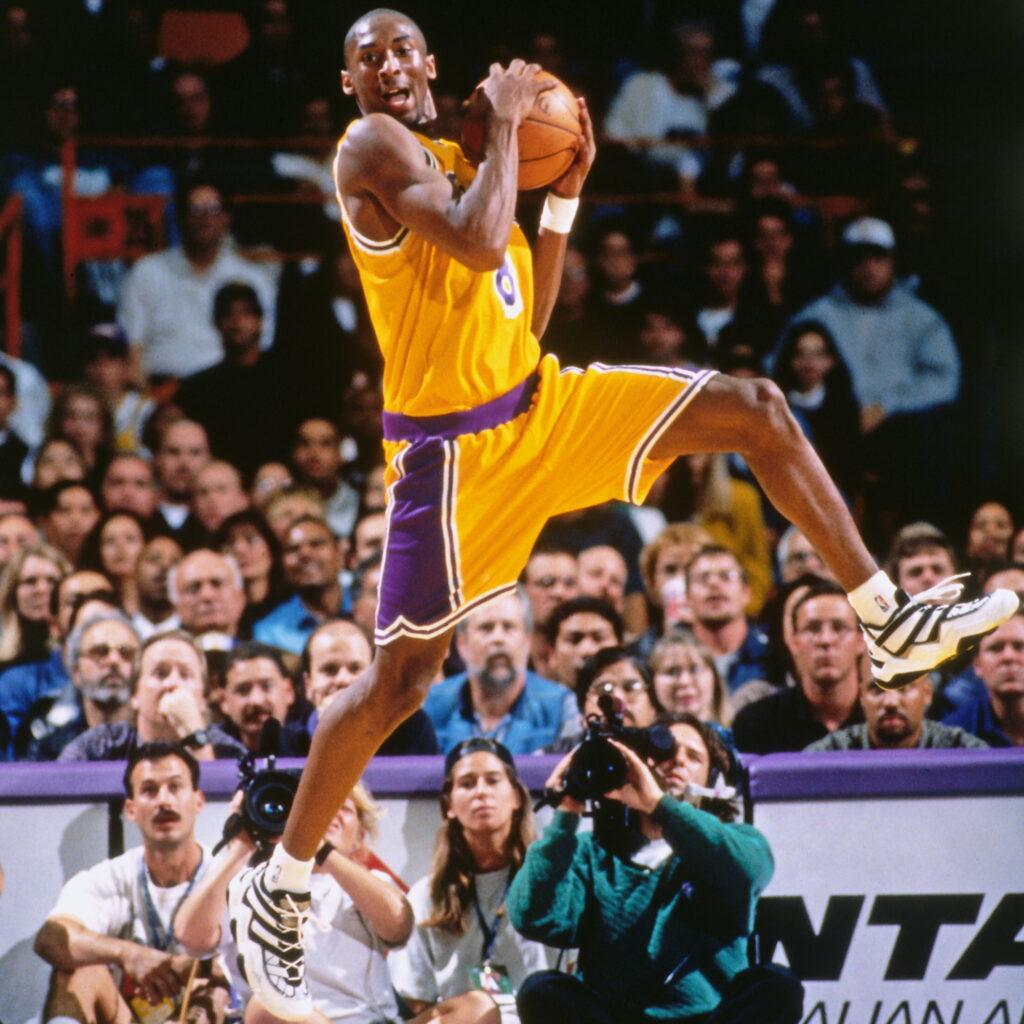 Kobe Bryant in his first regular season game, Los Angeles Lakers vs Minnesota Timberwolves at The Forum in Inglewood on November 3, 1996