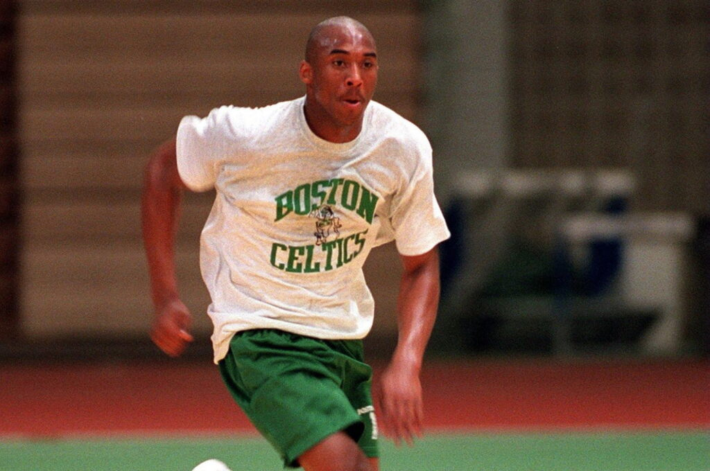 Kobe Bryant at pre-draft workout with the Celtics in 1996