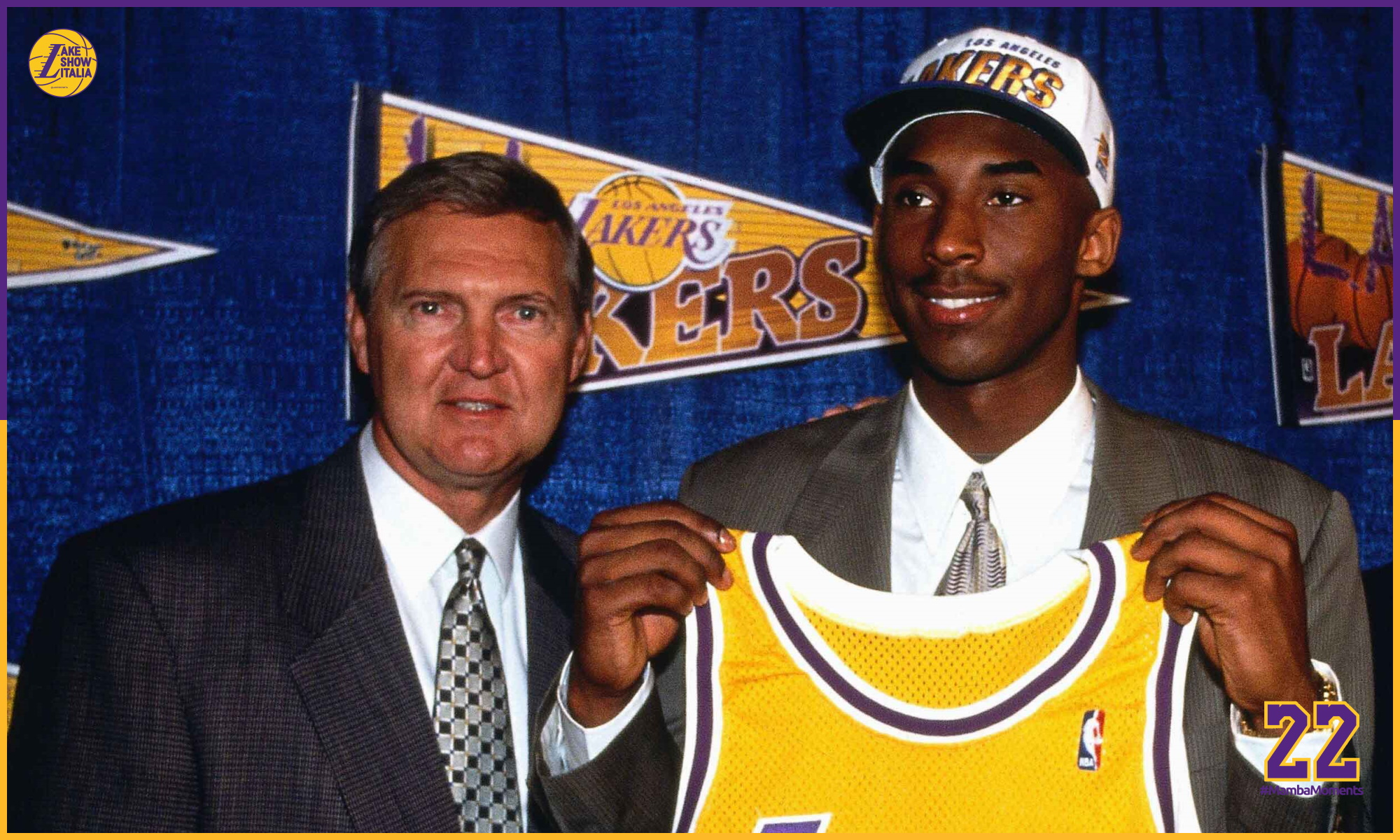 Jerry West and Kobe Bryant at the Great Western Forum