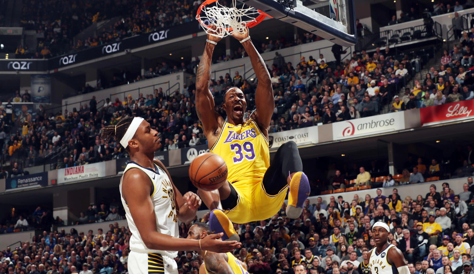 Dwight Howard, Los Angeles Lakers vs Indiana Pacers