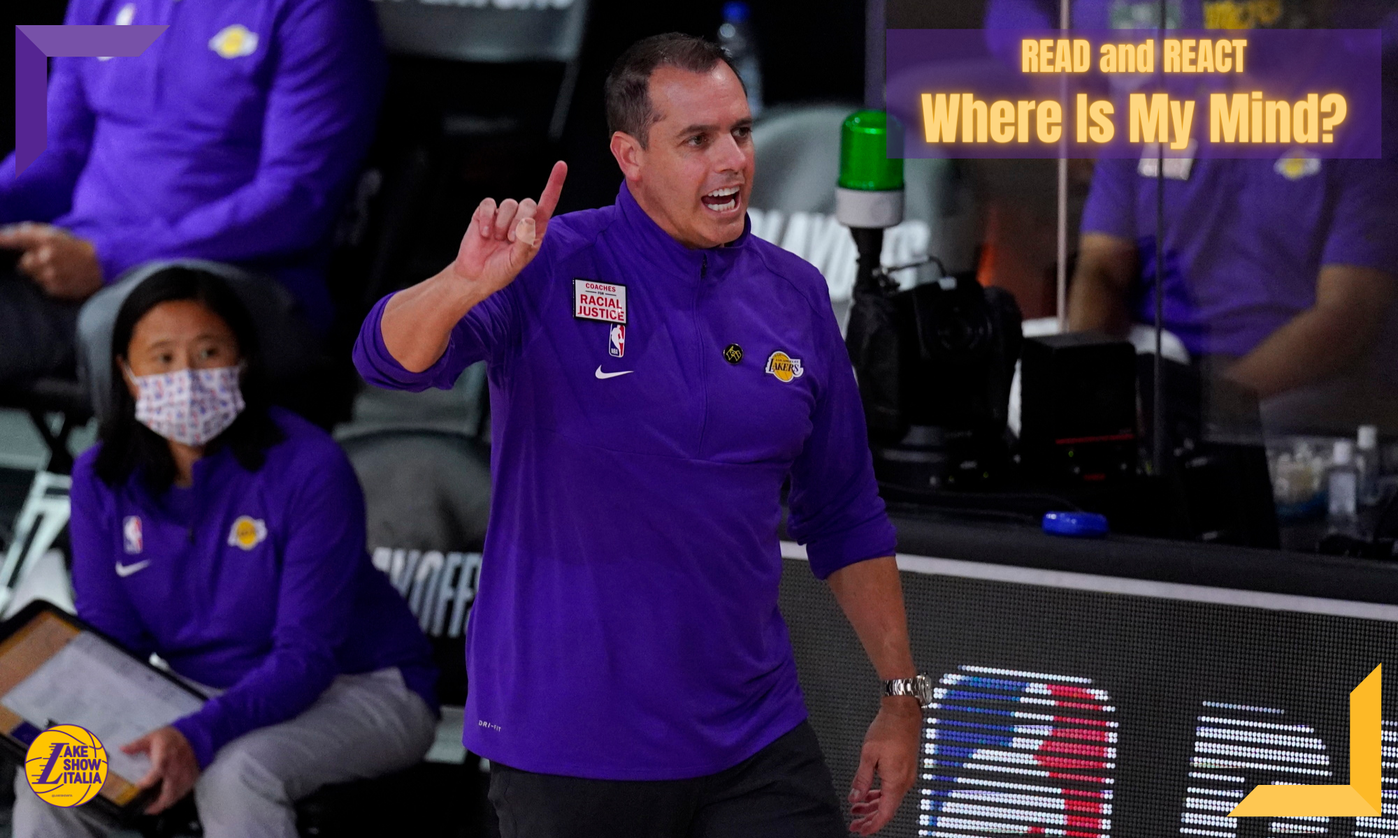Coach Frank Vogel, Los Angeles Lakers vs Houston Rockets during Game One of the Western Conference Semifinals of the NBA Playoffs on September 4, 2020