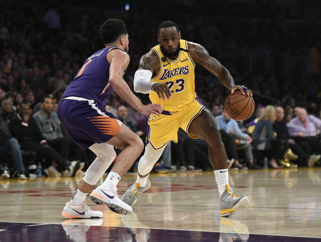 LeBron James and Devin Booker