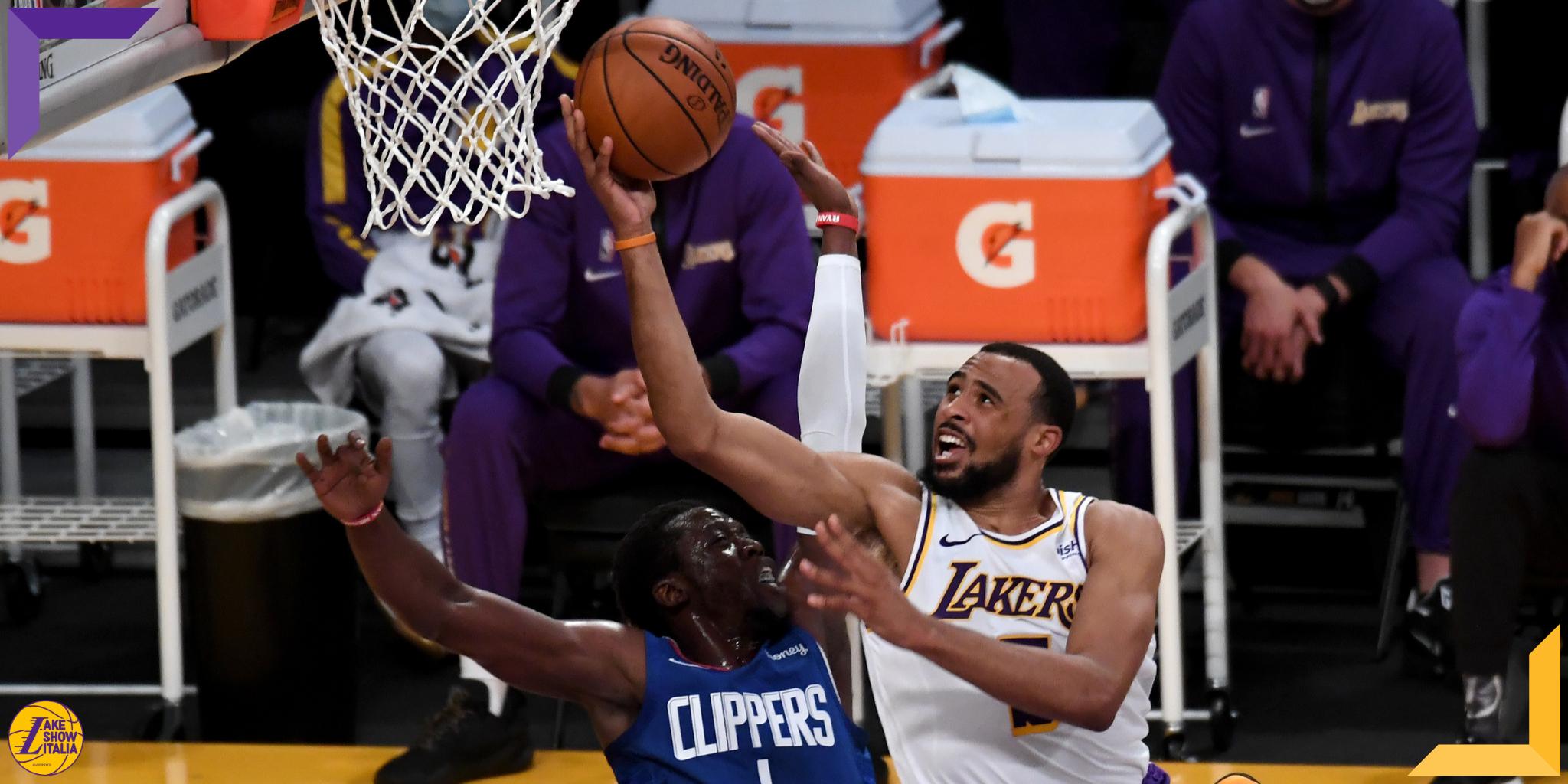 Nel successo dei Lakers contro i Clippers, buone prestazioni per Kuzma, Talen Horton-Tucker e Harrell.