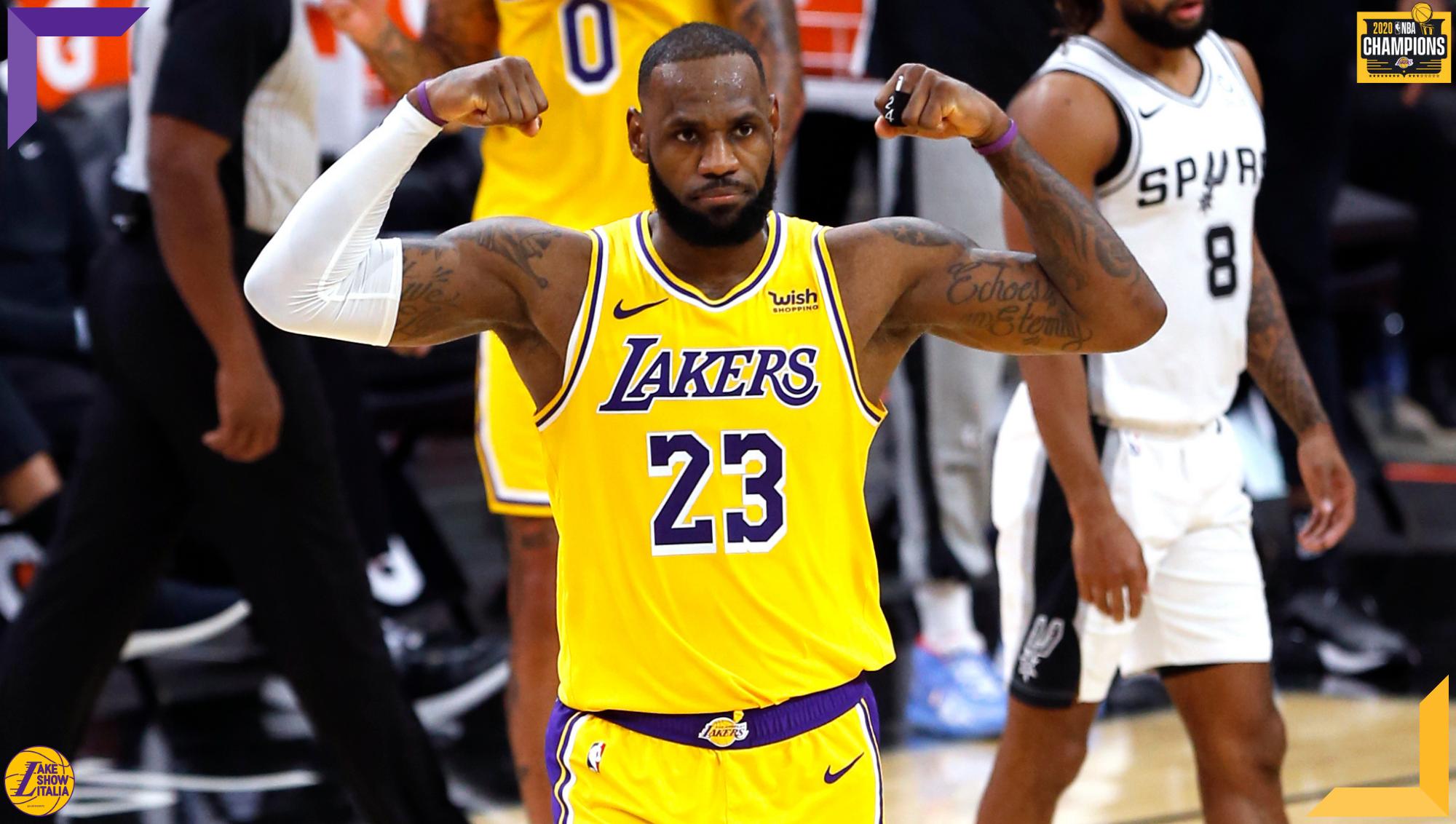 LeBron James, Los Angeles Lakers at San Antonio Spurs