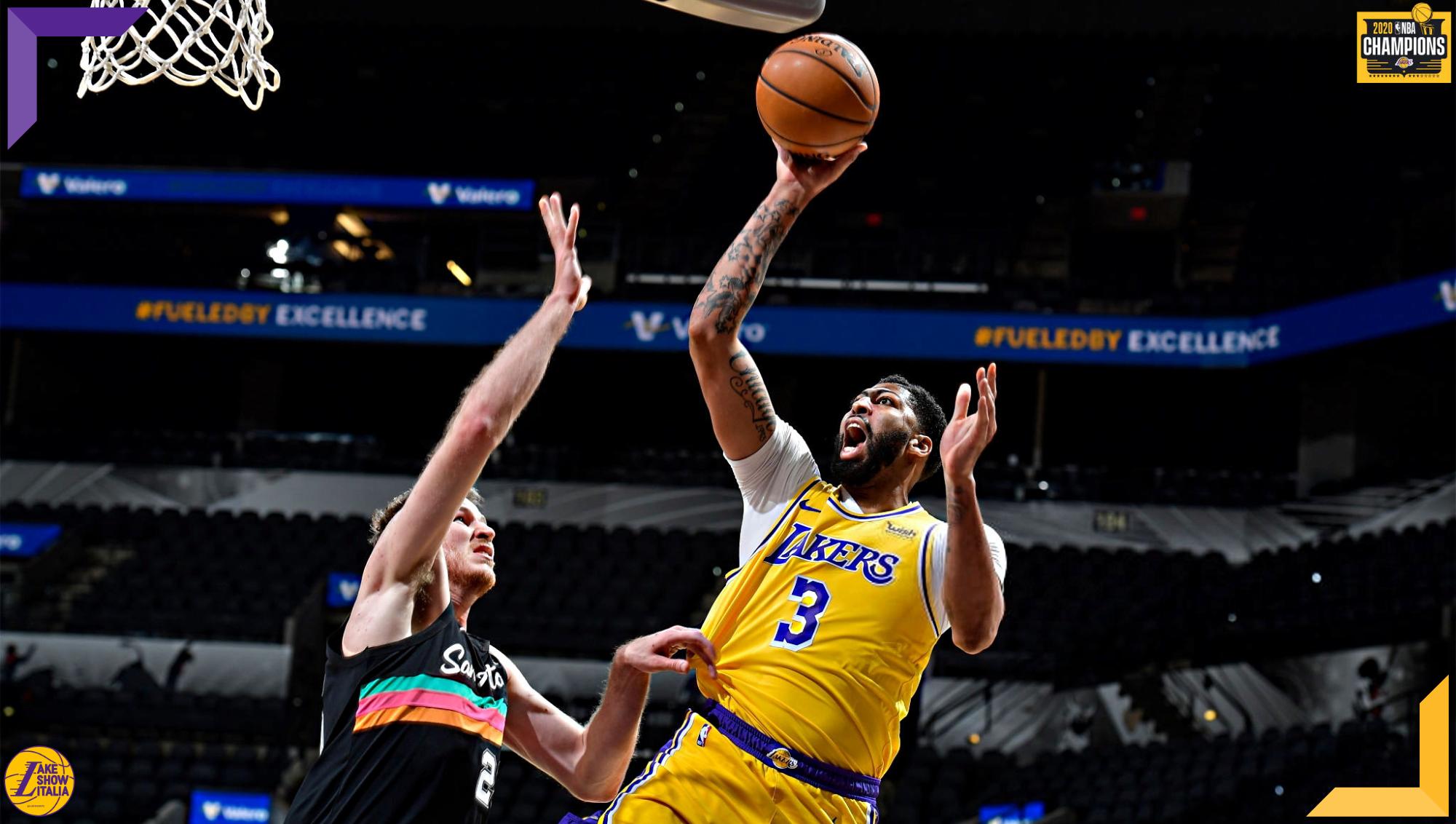 Anthony Davis, Los Angeles Lakers at San Antonio Spurs