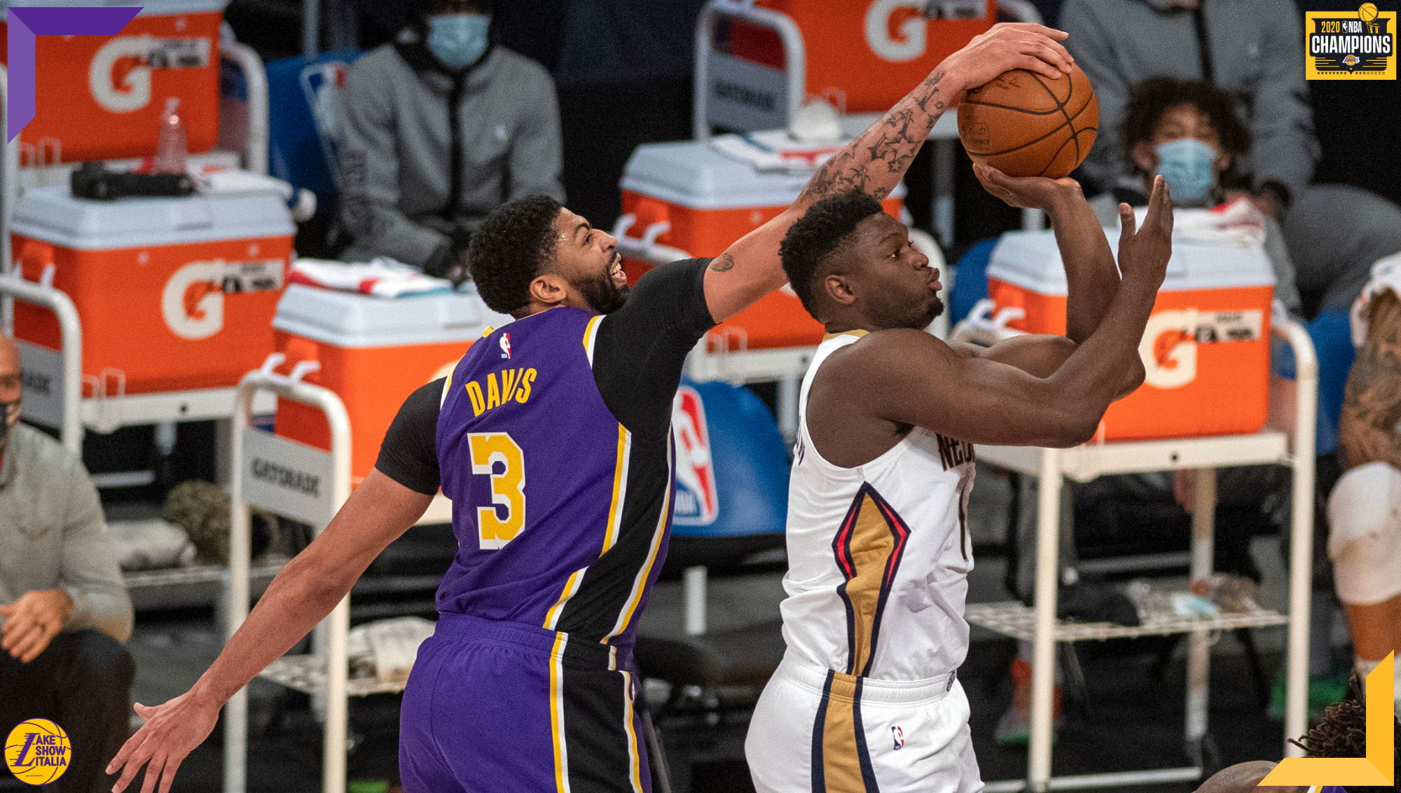 Anthony Davis and Zion Williamson, Los Angeles Lakers vs New Orleans Pelicans