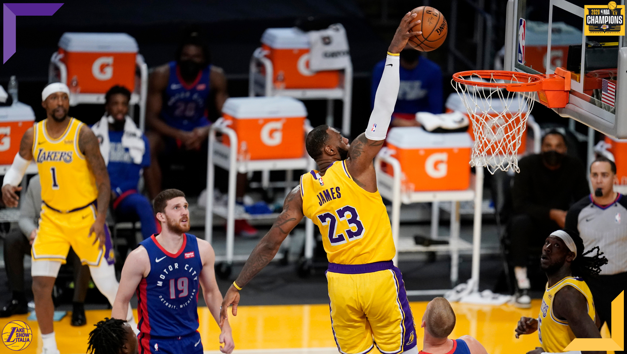 LeBron James, Los Angeles Lakers vs Detroit Pistons