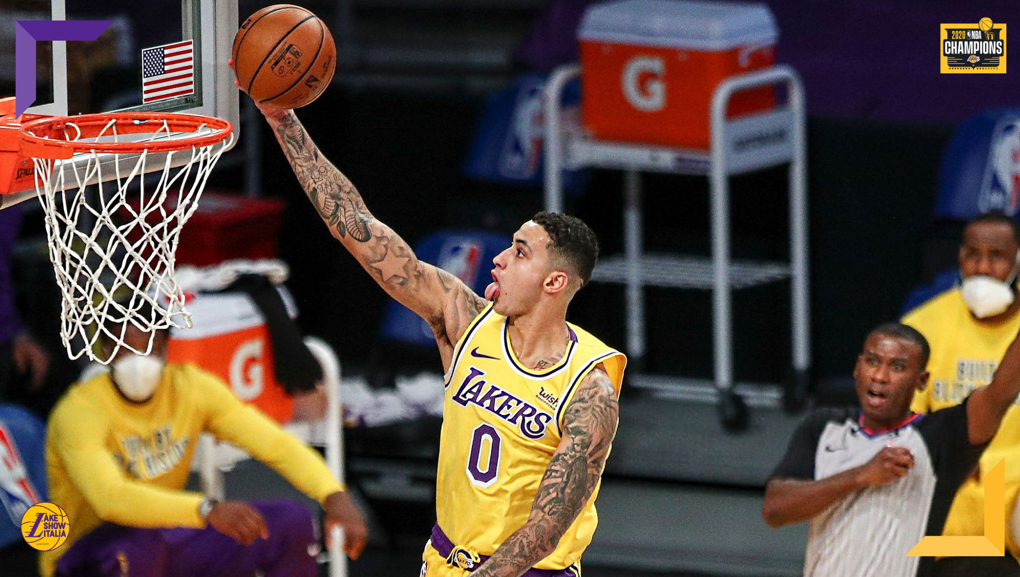 Kyle Kuzma, Los Angeles Lakers vs Miami Heat