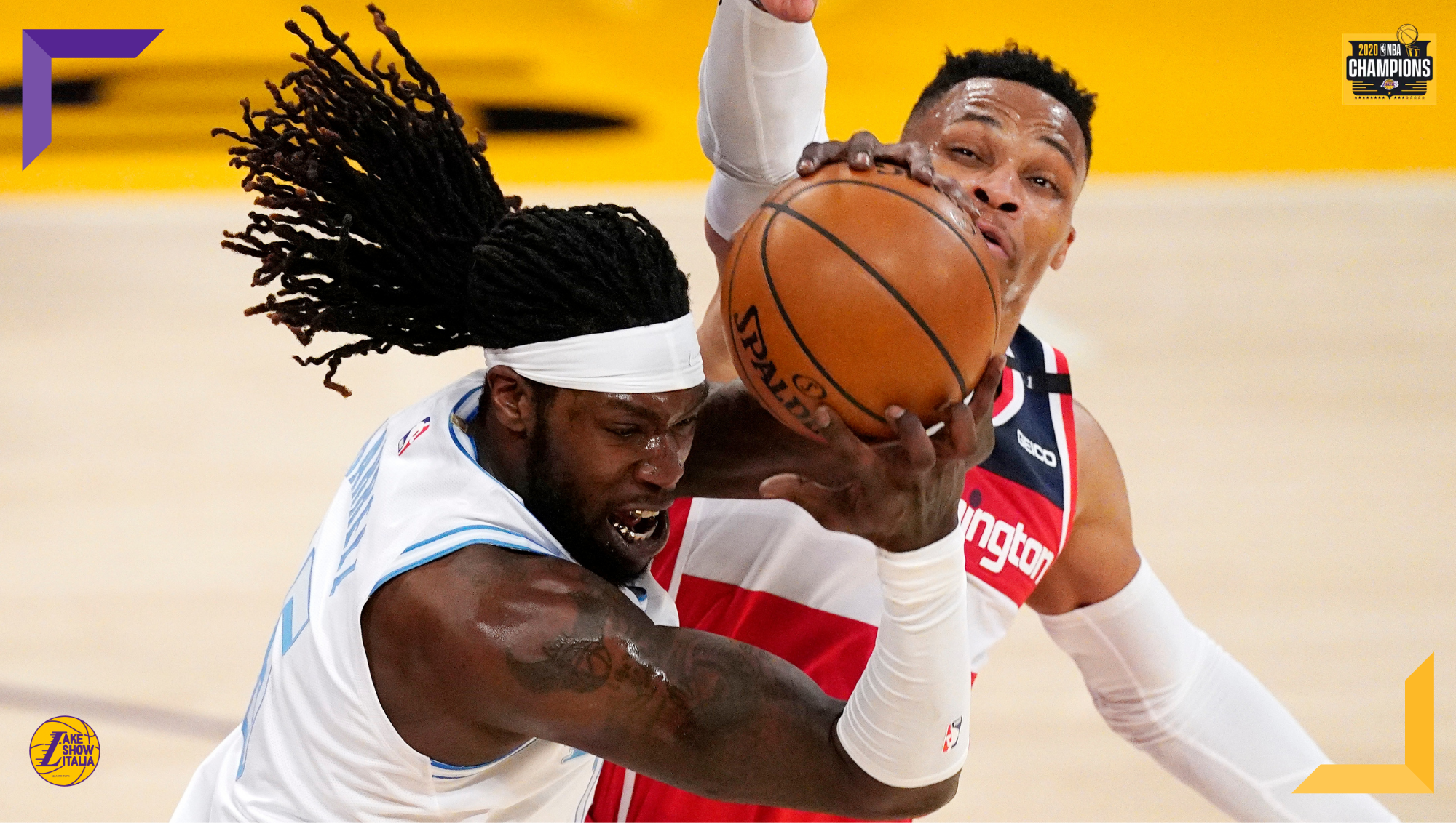 Montrezl Harrell and Russell Westbrook, Los Angeles Lakers vs Washington Wizards