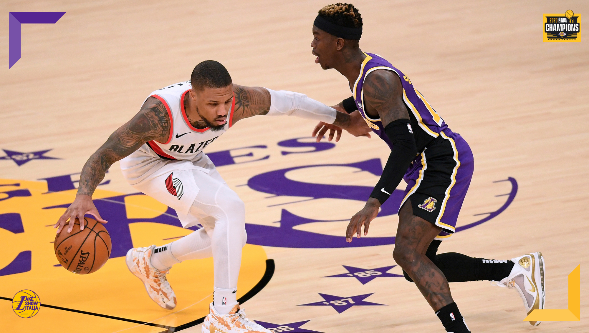 Damian Lillard and Dennis Schroder, Los Angeles Lakers vs the Portland Trail Blazers