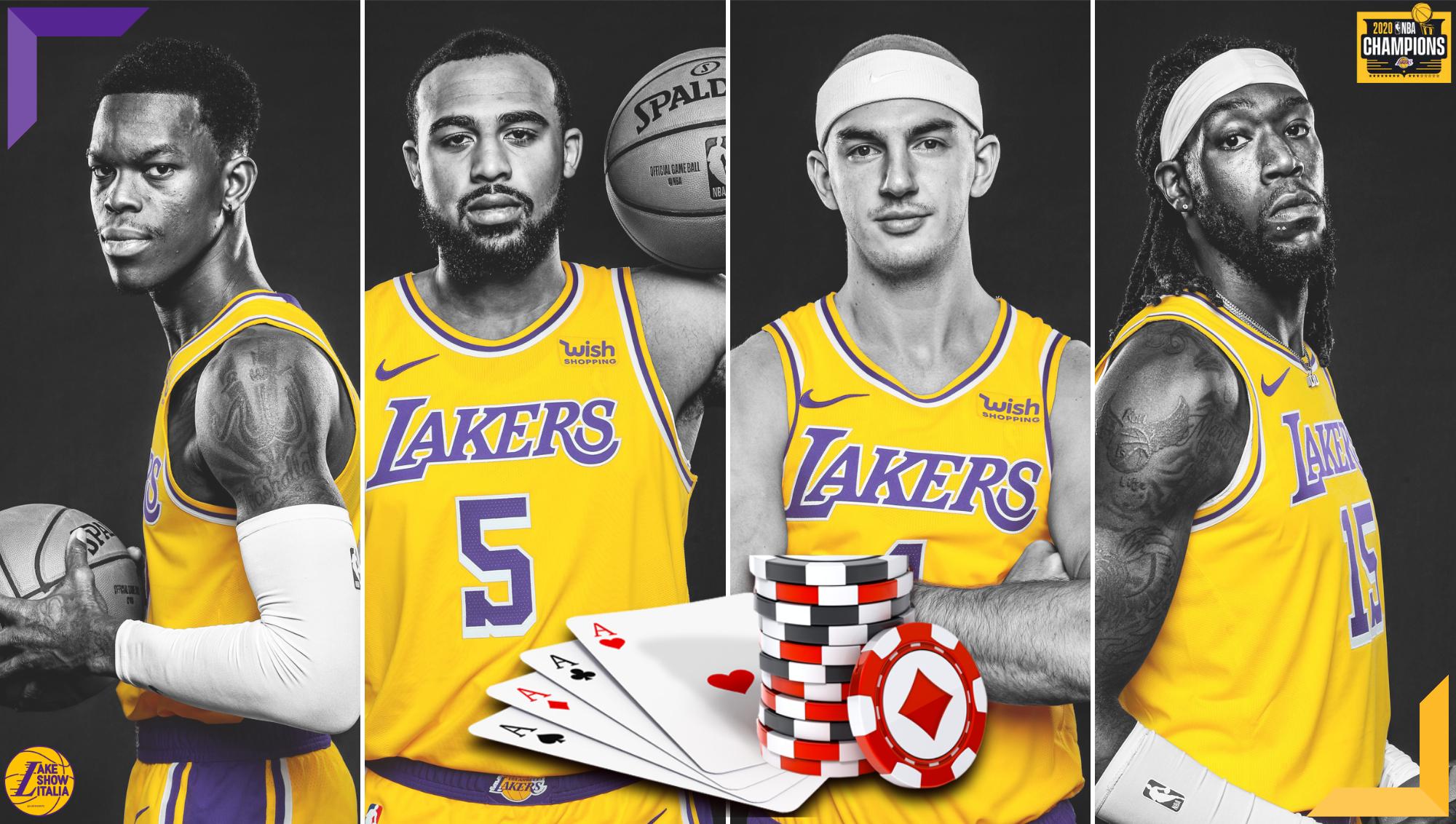 La situazione salariale dei Lakers e i complicati rinnovi contrattuali di Dennis Schröder, Montrezl Harrell, Talen Horton-Tucker e Alex Caruso.