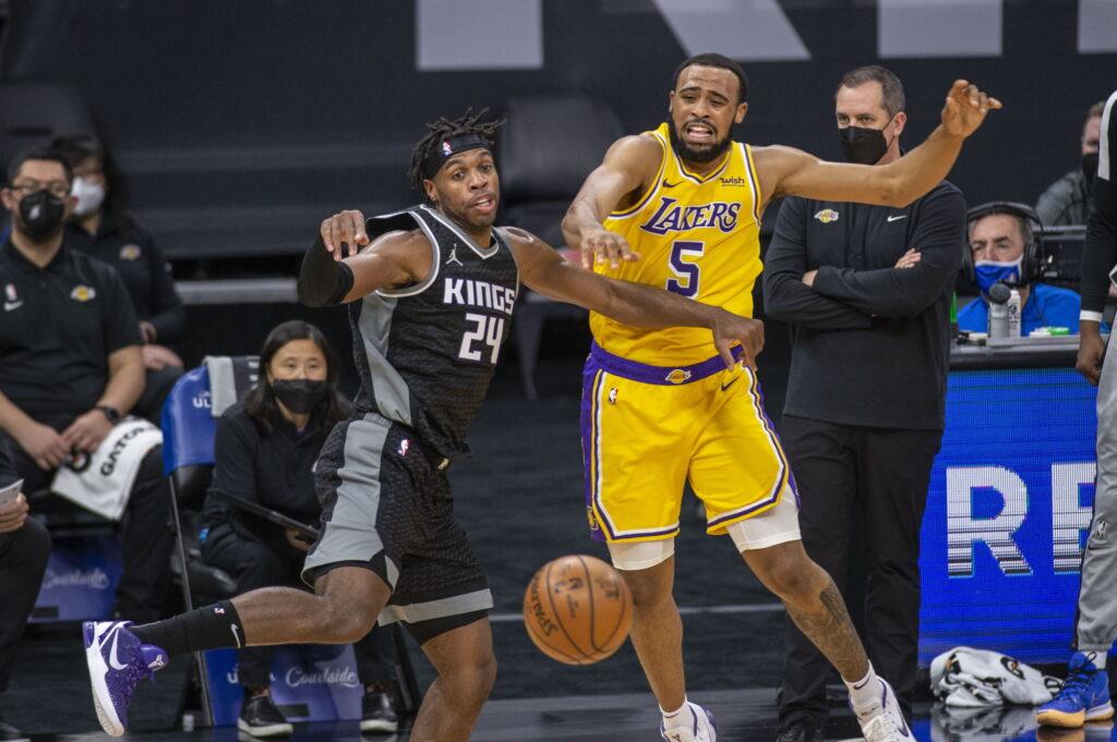 Buddy Hield and Talen Horton-Tucker, Los Angeles Lakers vs Sacramento Kings