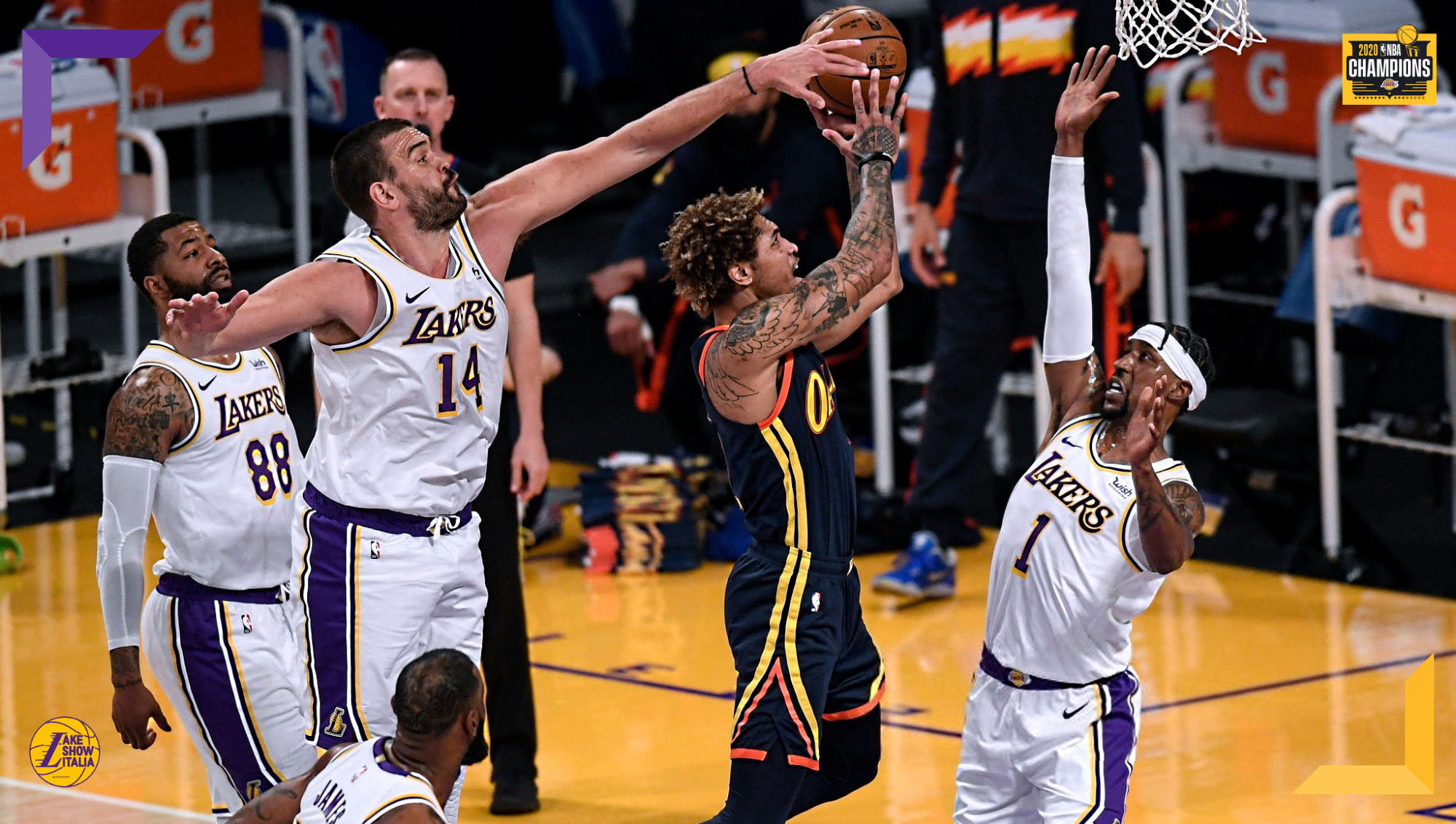 Marc Gasol and Kelly Oubre Jr., Los Angeles Lakers vs Golden State Warriors