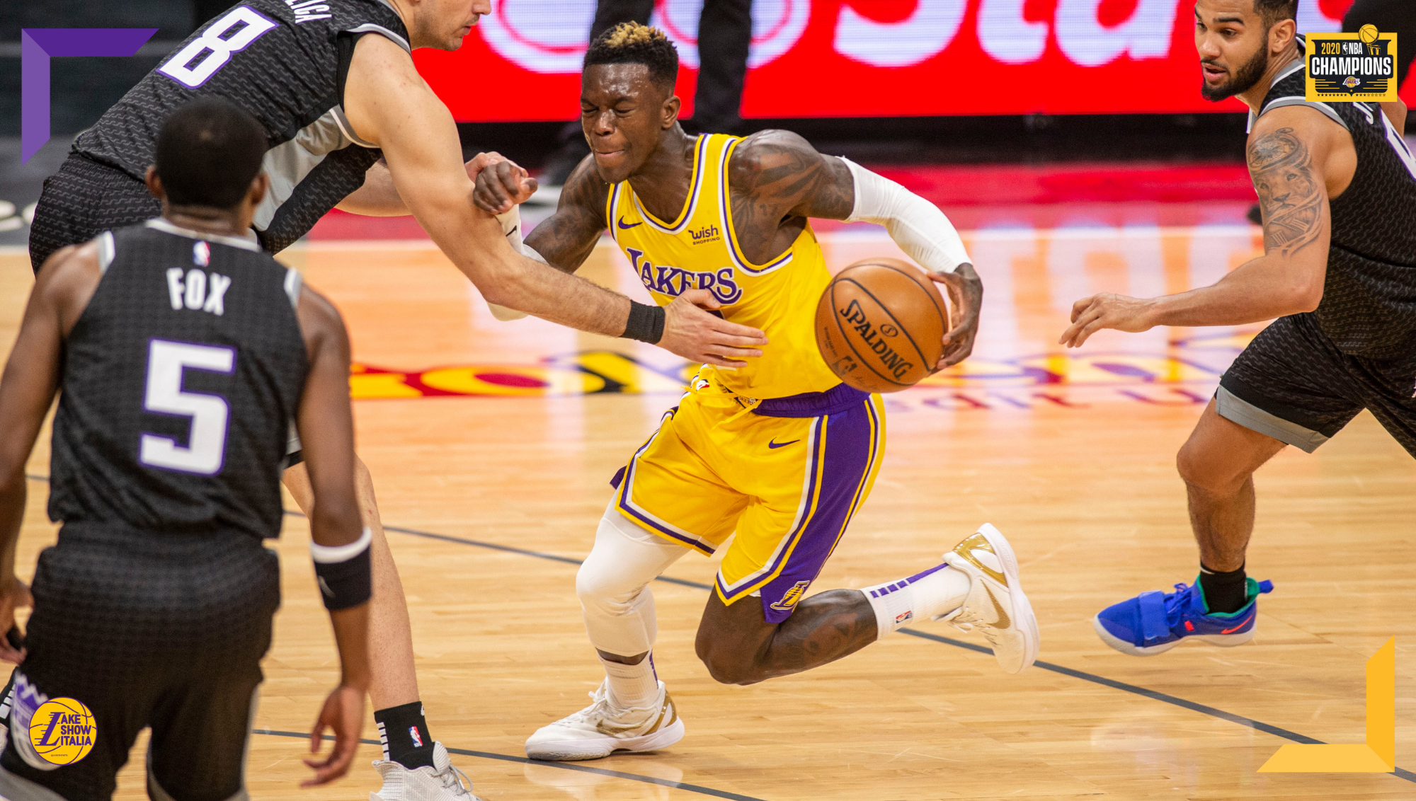 Dennis Schröder and Nemanja Bjelica, Los Angeles Lakers vs Sacramento Kings