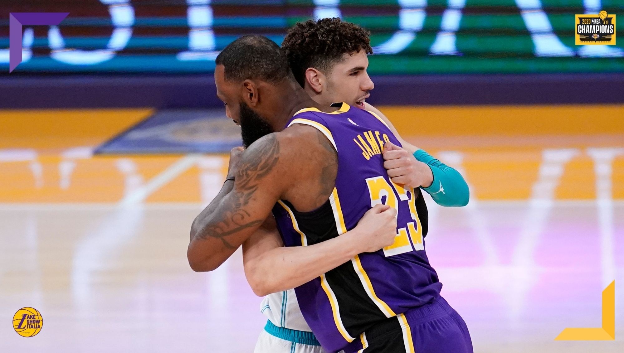 LeBron James and LaMelo Ball, Los Angeles Lakers vs Charlotte Hornets