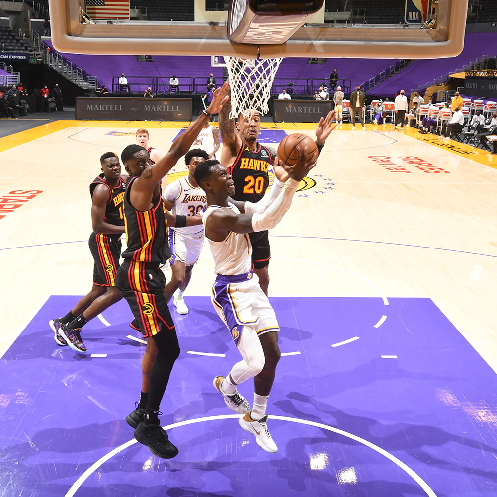 Dennis Schröder, Los Angeles Lakers vs Atlanta Hawks