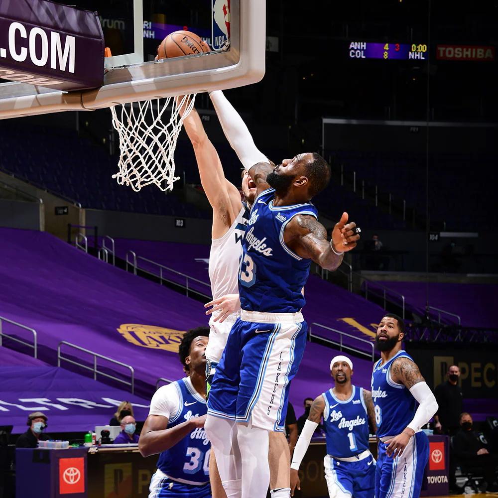 LeBron James, Los Angeles Lakers vs Minnesota Timberwolves