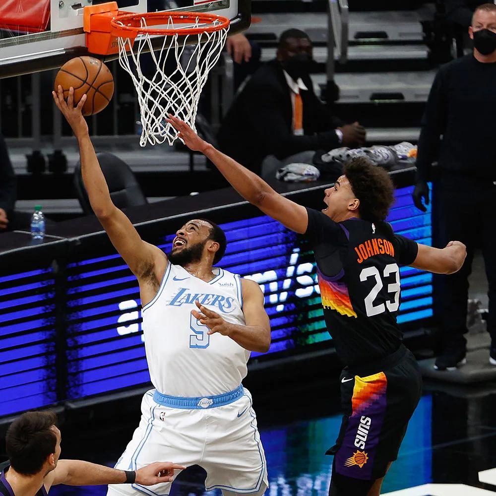 Talen Horton-Tucker and Cameron Johnson, Los Angeles Lakers vs Phoenix Suns