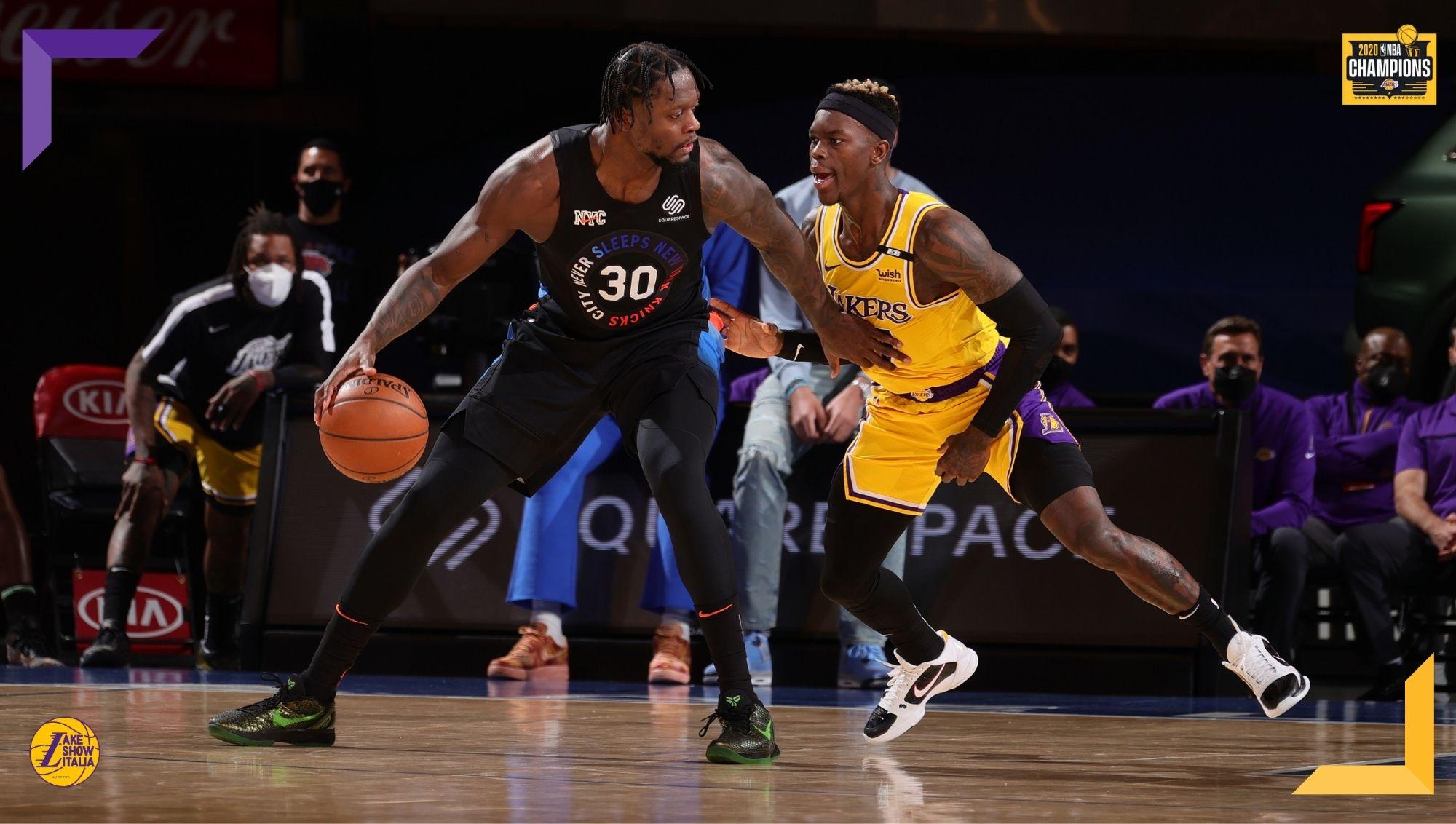 Dopo un discreto inizio, i Los Angeles Lakers crollano e vengono battuti dai New York Knicks. Una marea di perse per Schröder e compagni.