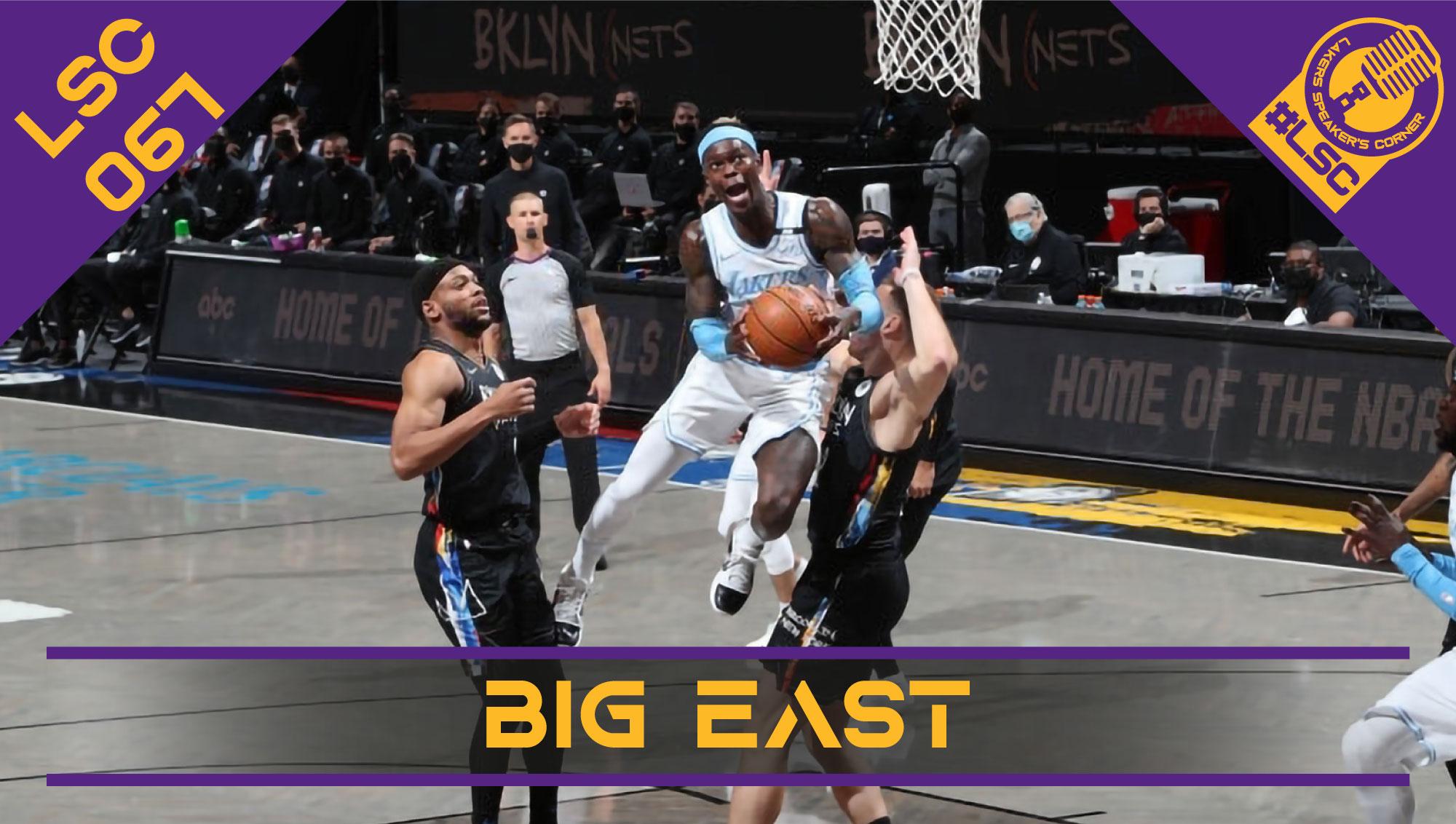 La gara dei Los Angeles Lakers contro i Brooklyn Nets, le prime impressioni su Andre Drummond e Ben McLemore e il punto sulle contender ad Est.