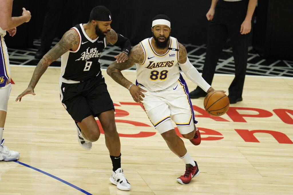 Markieff Morris and Marcus Morris Sr., Los Angeles Lakers vs LA Clippers