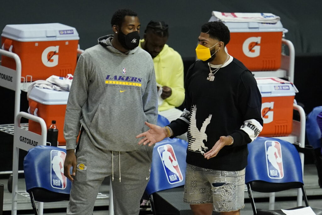 Andre Drummond and Anthony Davis, Los Angeles Lakers vs LA Clippers