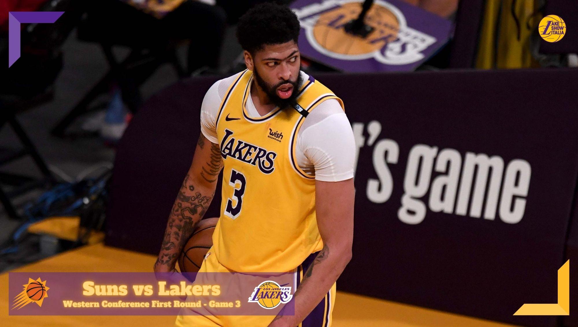 Anthony Davis e LeBron James dominano il secondo tempo, i Los Angeles Lakers vincono Gara 3 e si portano in vantaggio contro i Phoenix Suns.