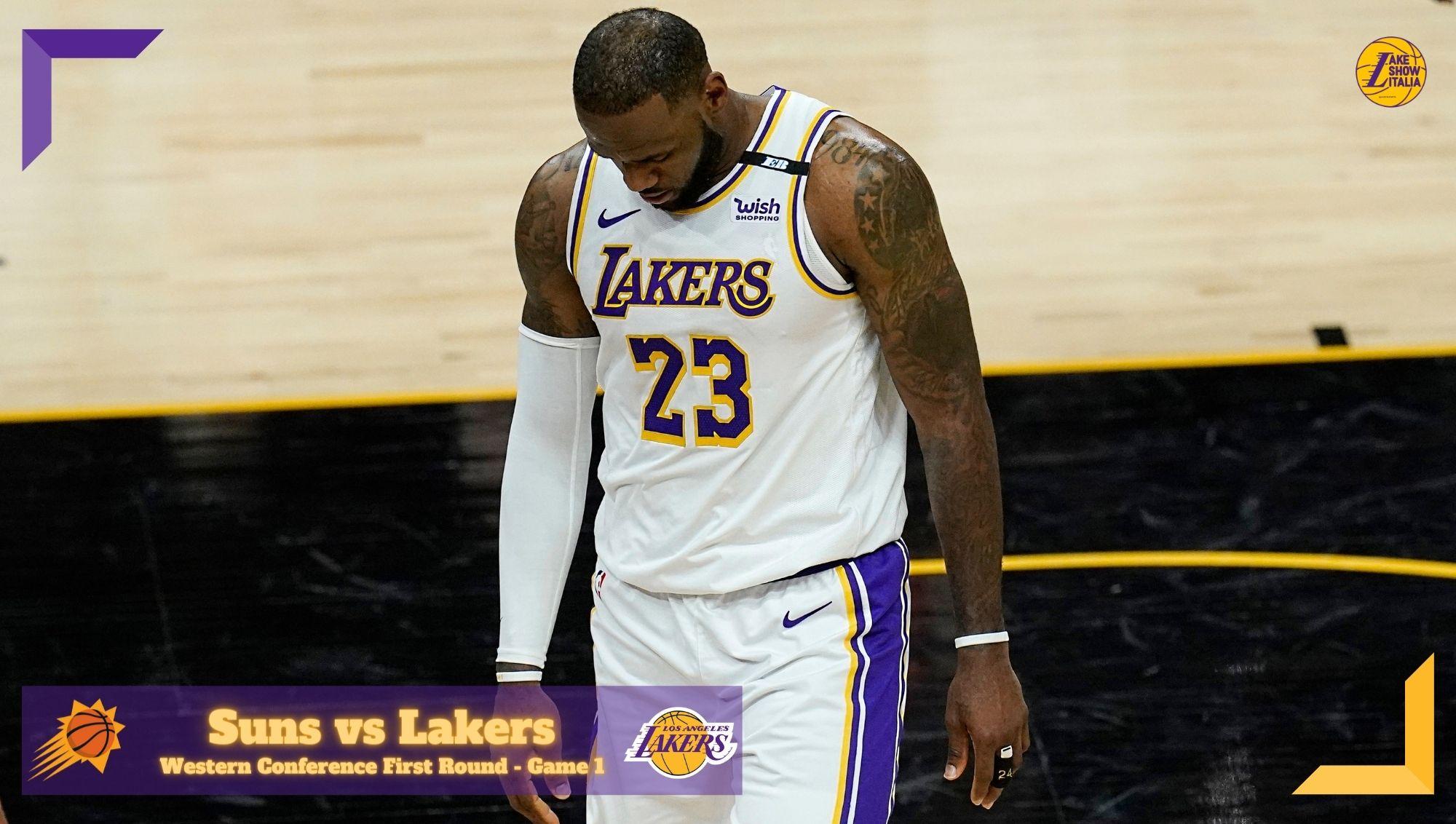 Los Angeles Lakers battuti nettamente dai Phoenix Suns in Gara 1. DeAndre Ayton e Devin Booker surclassano Anthony Davis e LeBron James.