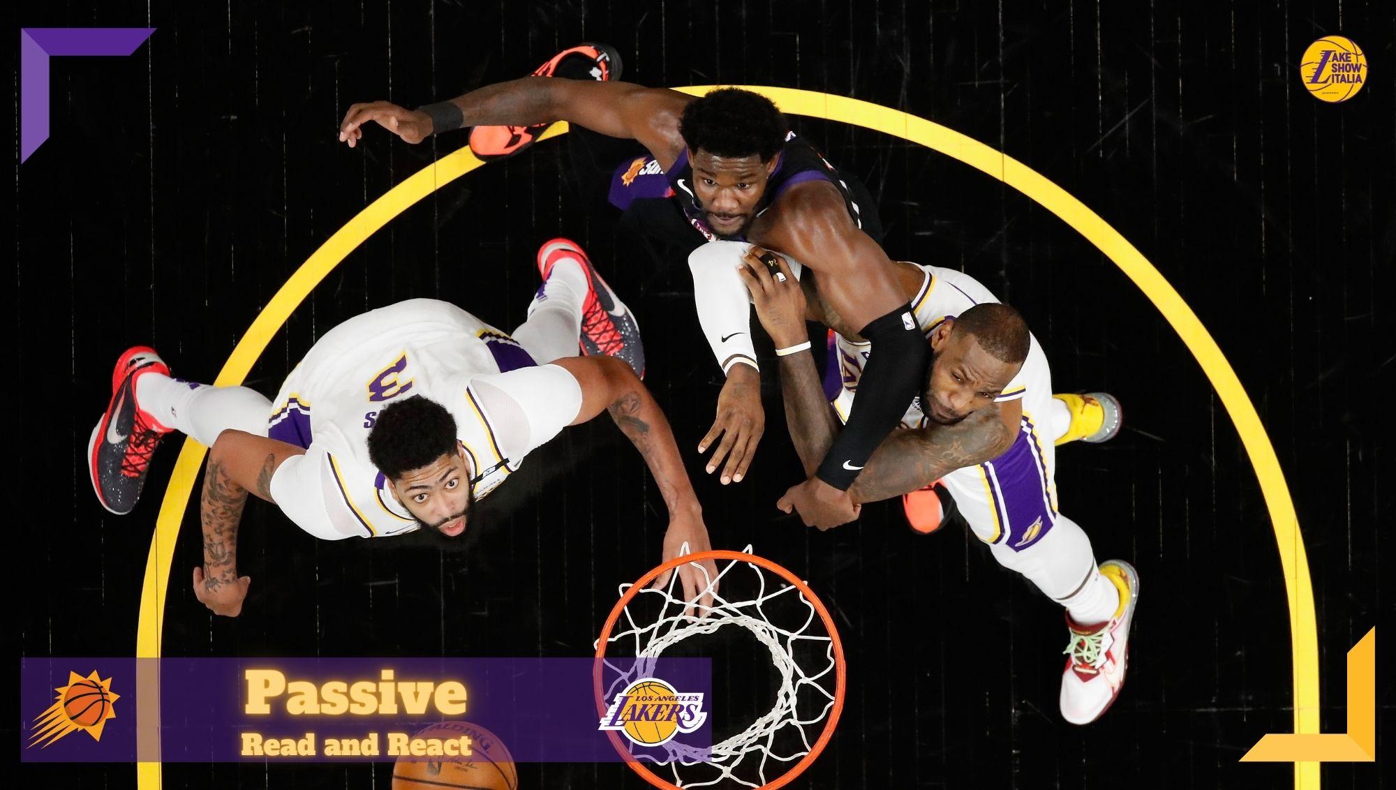 Anthony Davis, Deandre Ayton and LeBron James. Los Angeles Lakers vs Phoenix Suns on May 23, 2021 at Phoenix Suns Arena in Phoenix, Arizona.