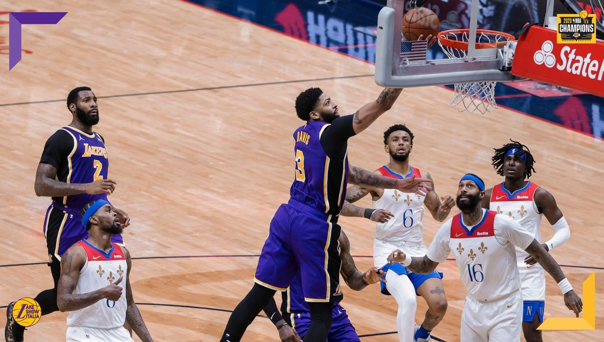 I Los Angeles Lakers superano agevolmente i New Orleans Pelicans, ora per i Gialloviola c'è in programma la gara secca contro gli Warriors.